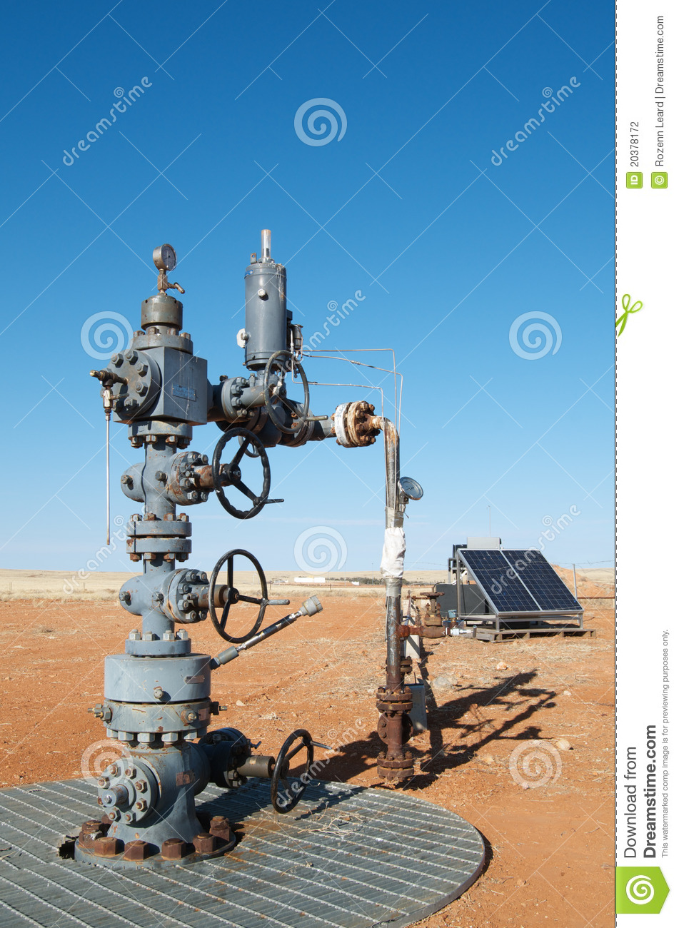 Oil Wellhead Stock Photo Image Of Industrial Panel