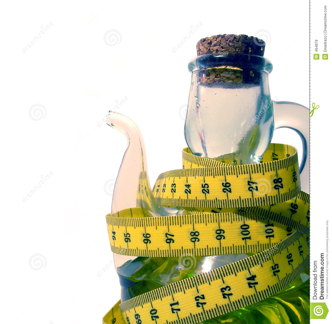 Download Oilcan with measuring tape stock image. Image of measuring - 464879