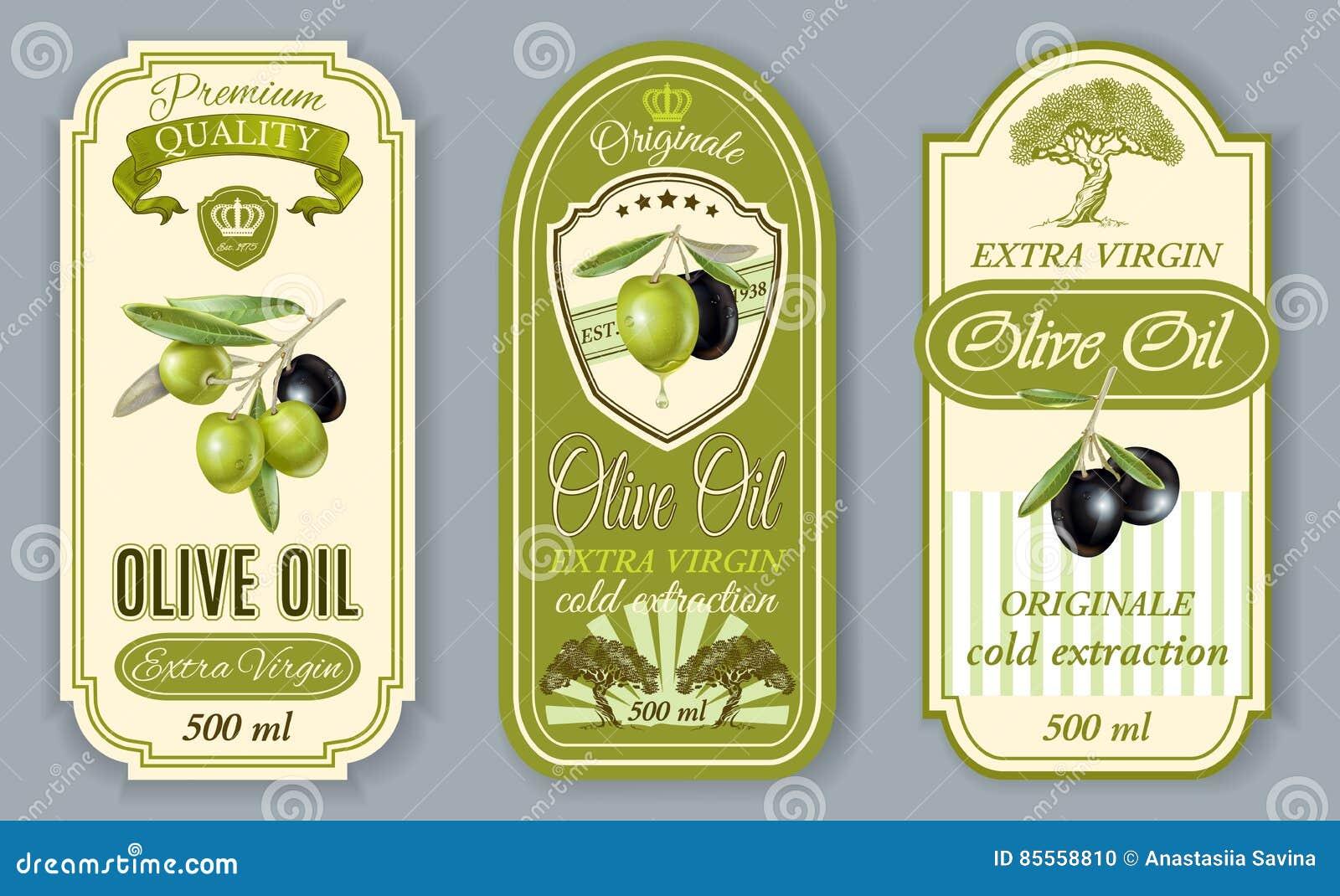 Oilve-Ölaufkleber