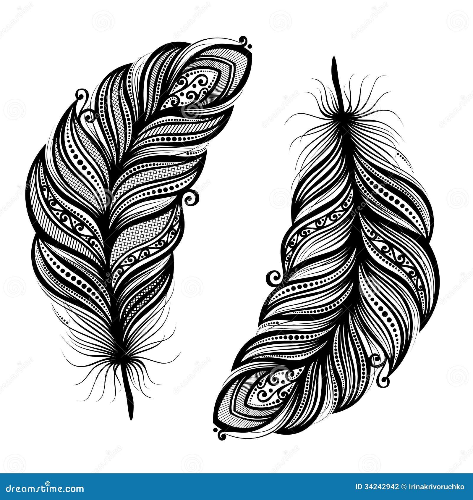 oiseau abstrait de plume illustration de vecteur illustration du monochrome 34242942. Black Bedroom Furniture Sets. Home Design Ideas