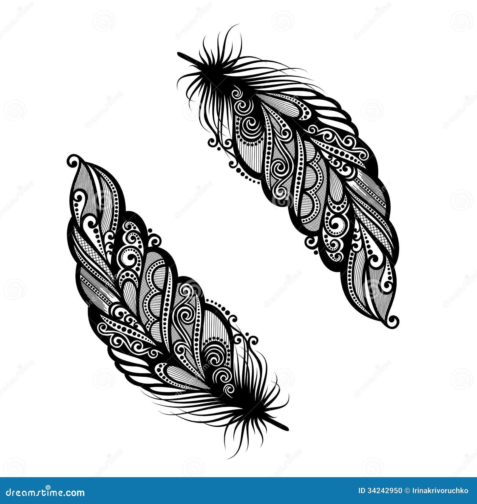 oiseau abstrait de plume illustration de vecteur illustration du vecteur 34242950. Black Bedroom Furniture Sets. Home Design Ideas