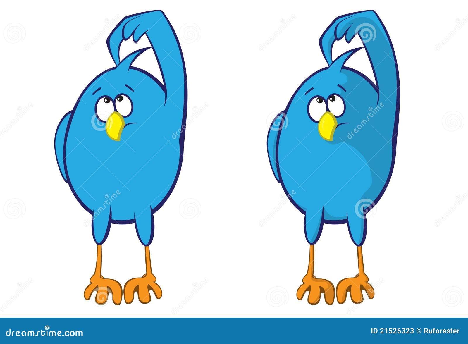 Oiseau bleu illustration de vecteur illustration du for Oiseau bleu et orange