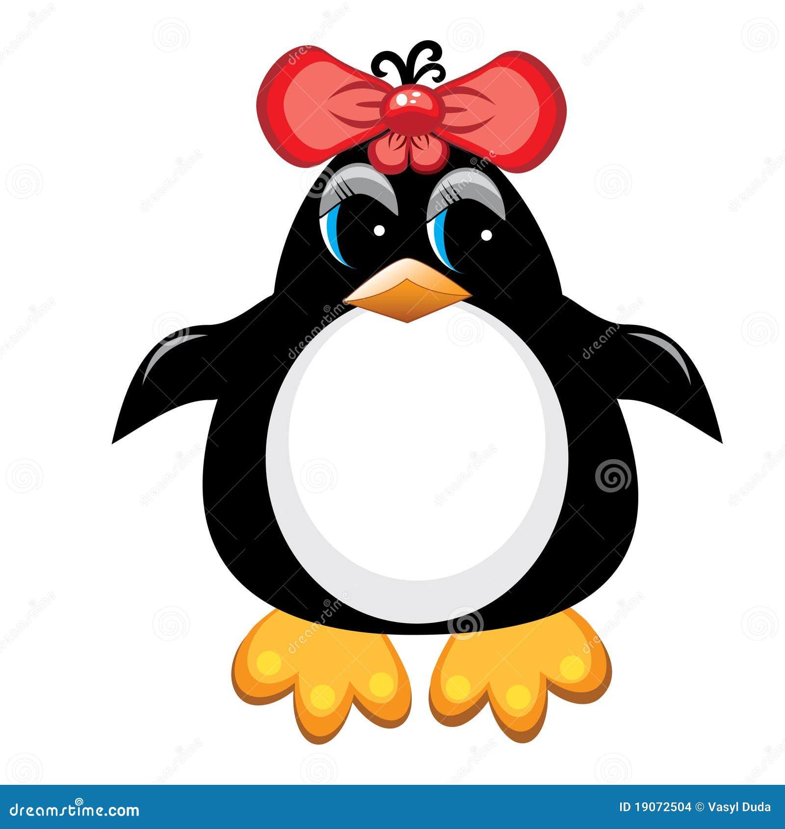 Oiseau de dessin anim de pingouin fille illustration de vecteur illustration du animal - Dessin anime les pingouins ...