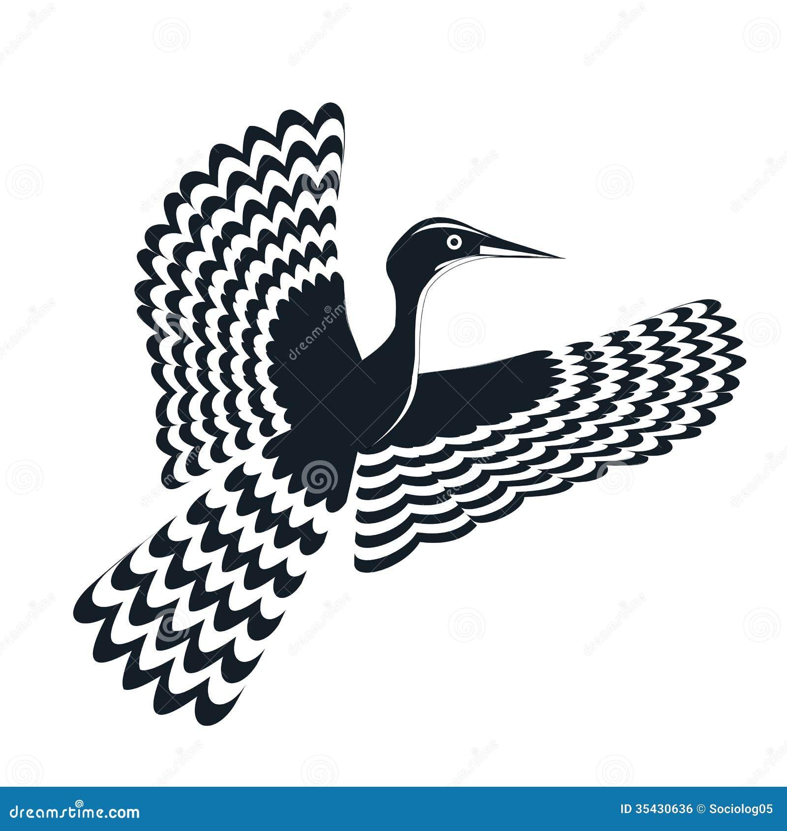 oiseau de logo noir et blanc image libre de droits image. Black Bedroom Furniture Sets. Home Design Ideas