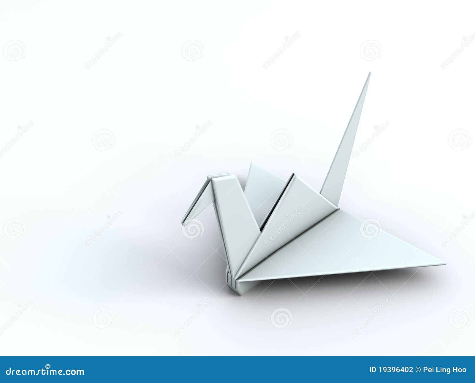 oiseau de papier de grue d 39 origami de concept de paix. Black Bedroom Furniture Sets. Home Design Ideas