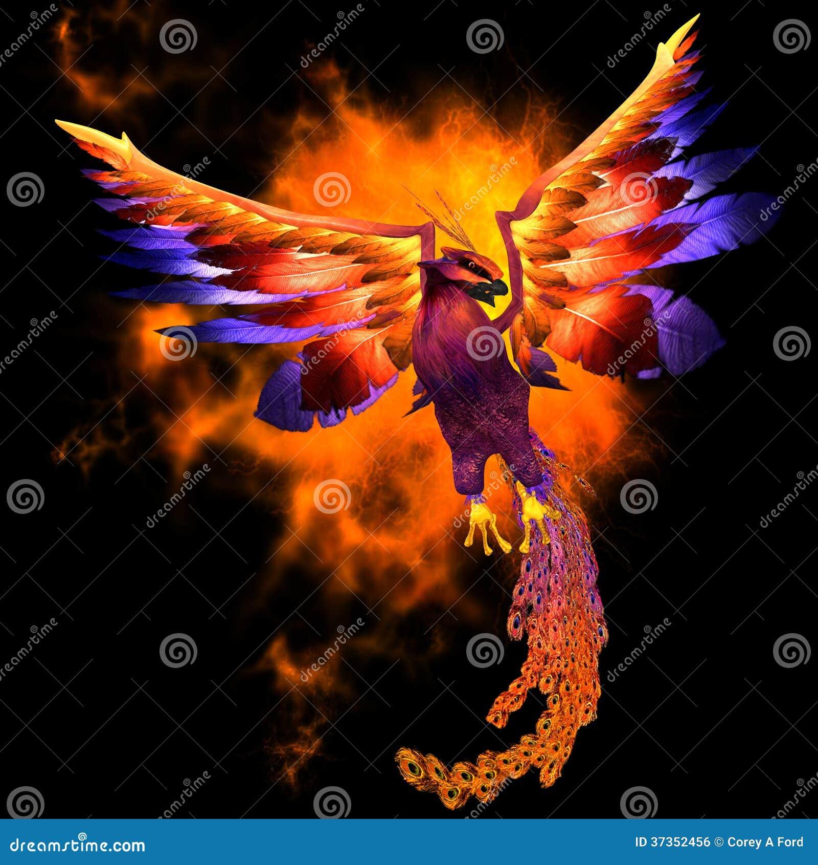 Oiseau de phoenix illustration stock illustration du clavettes 37352456 - Photo de phenix ...