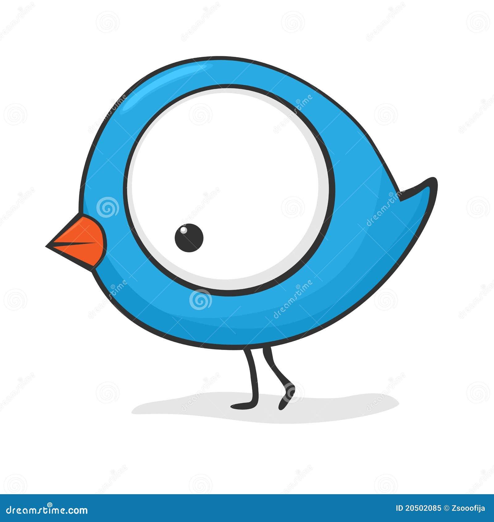 Oiseau mignon de dessin anim photo libre de droits image 20502085 - Image oiseau dessin ...