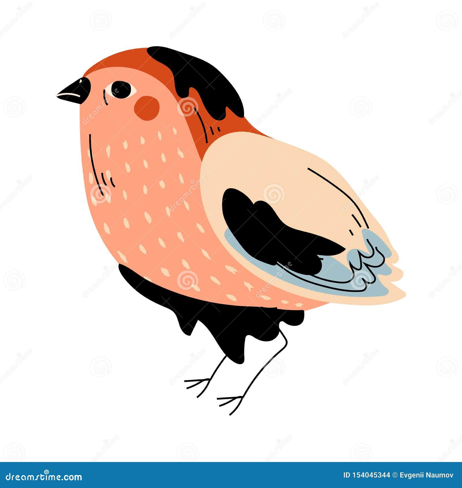 Oiseau souillé avec le résidu pétrolier, illustration globale de vecteur de problème de pollution environnementale