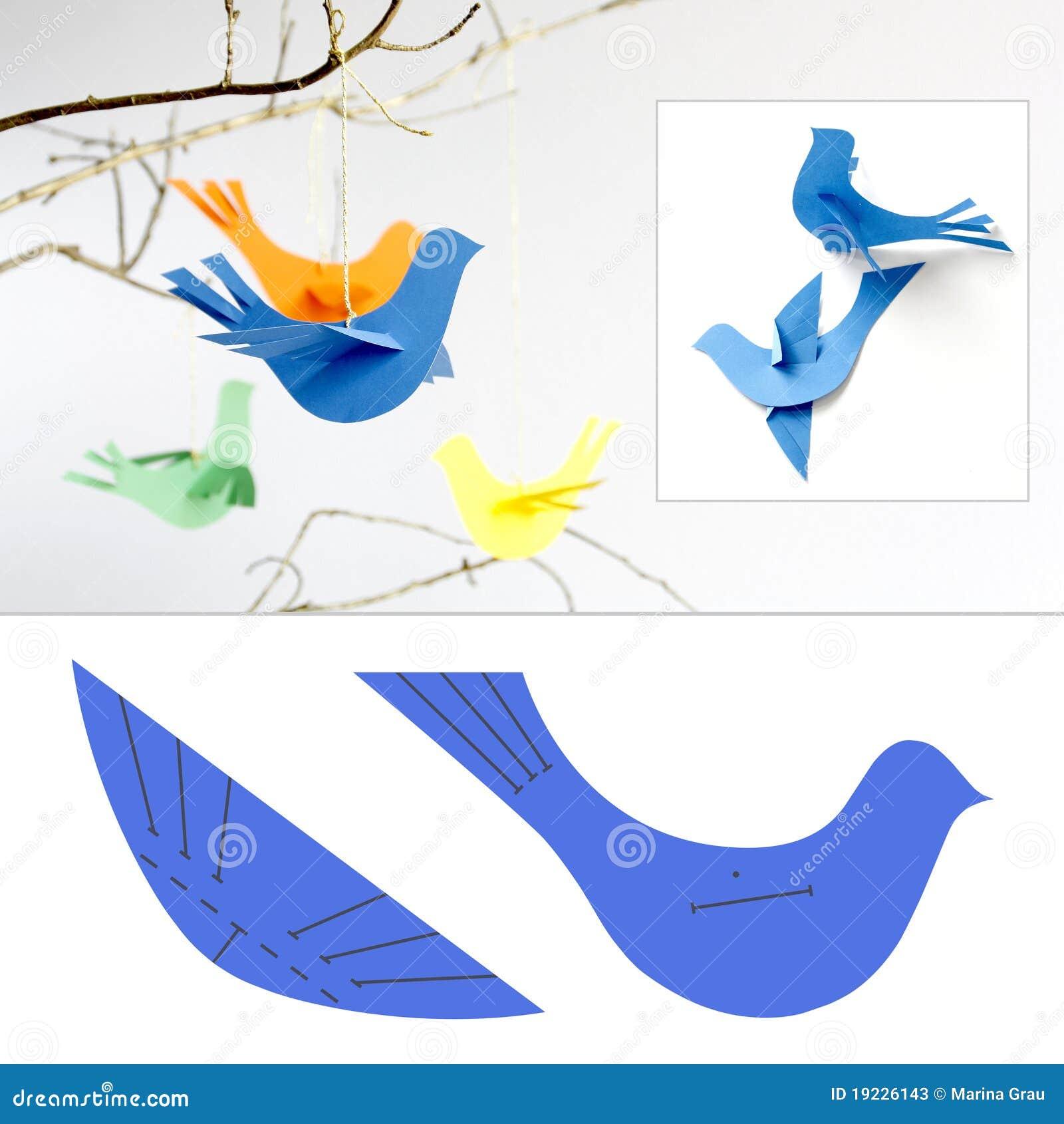 oiseaux de papier illustration stock illustration du. Black Bedroom Furniture Sets. Home Design Ideas