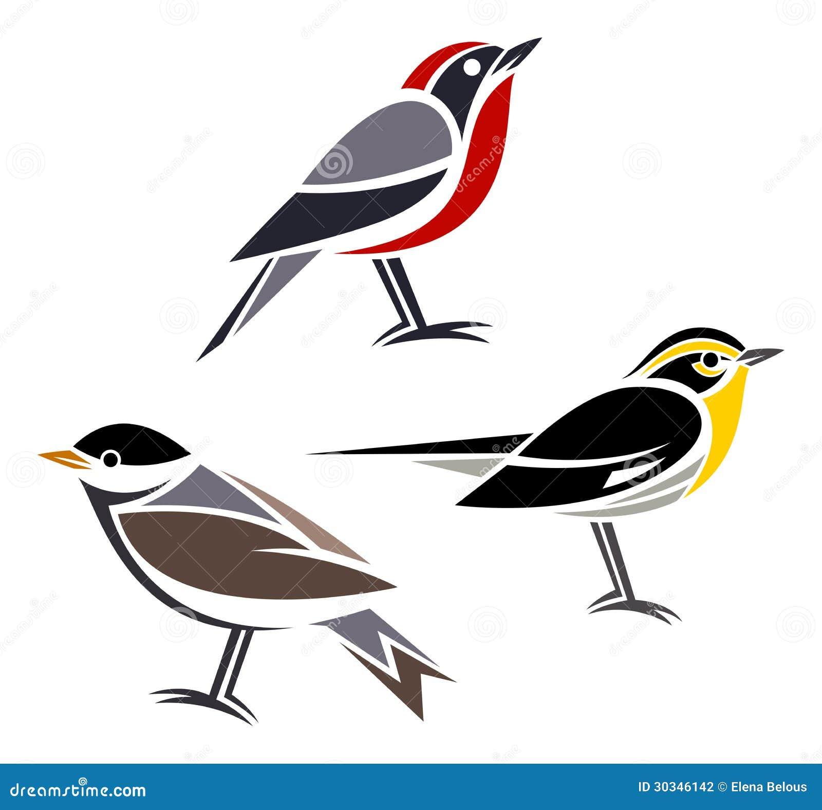 Oiseaux stylis s photographie stock image 30346142 - Dessins de chats stylises ...