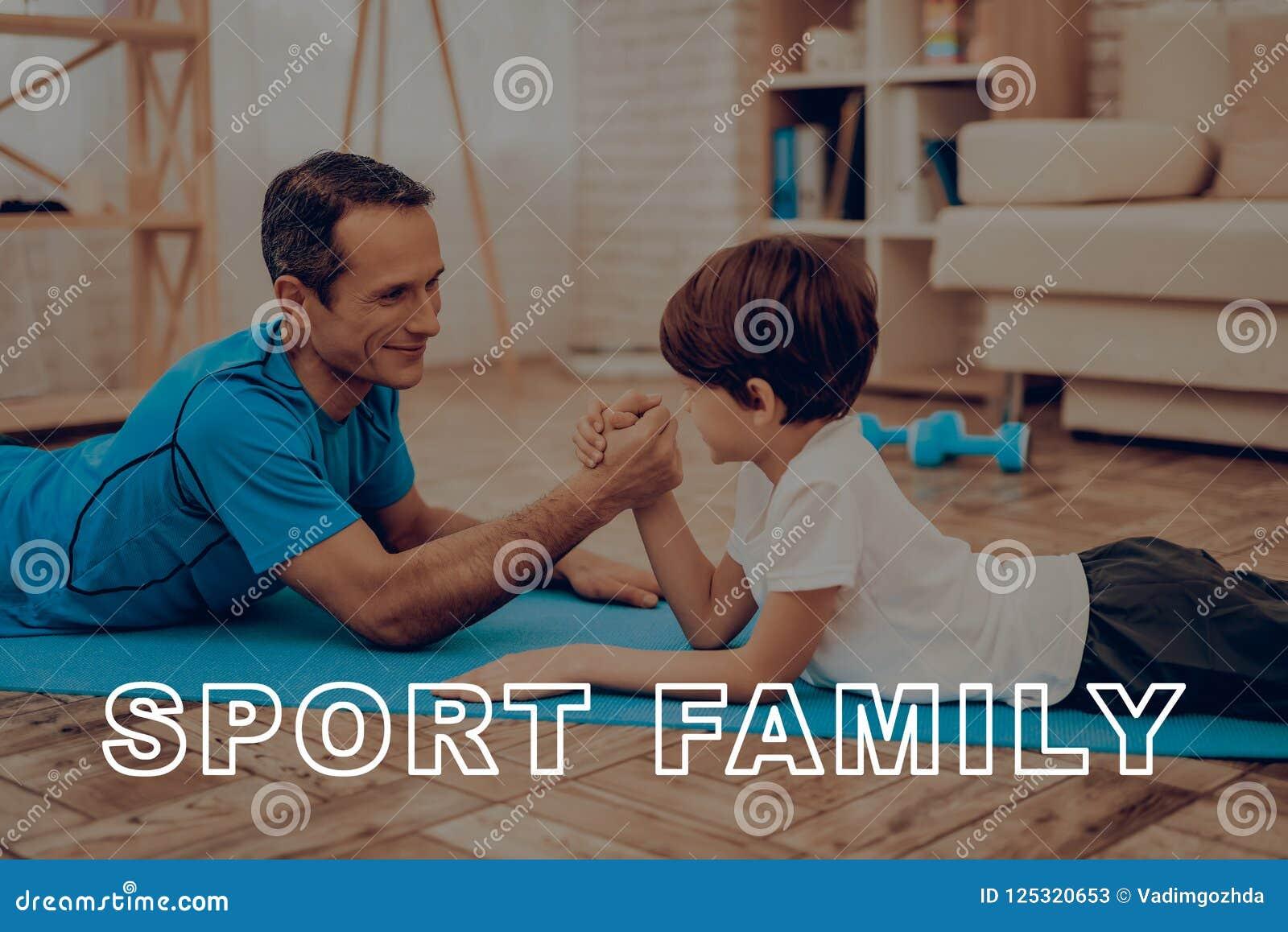 Ojciec I syn Robimy Gym sport rodzina