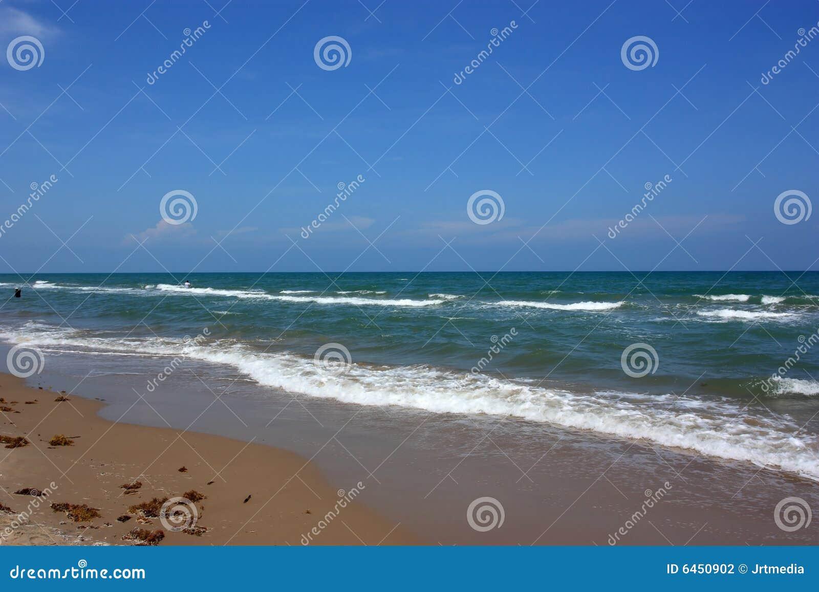 Ojcze wyspy na plaży