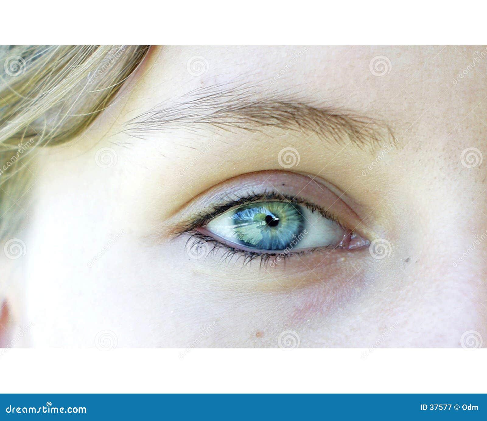 Download Ojo azul imagen de archivo. Imagen de viewpoint, opinión - 37577