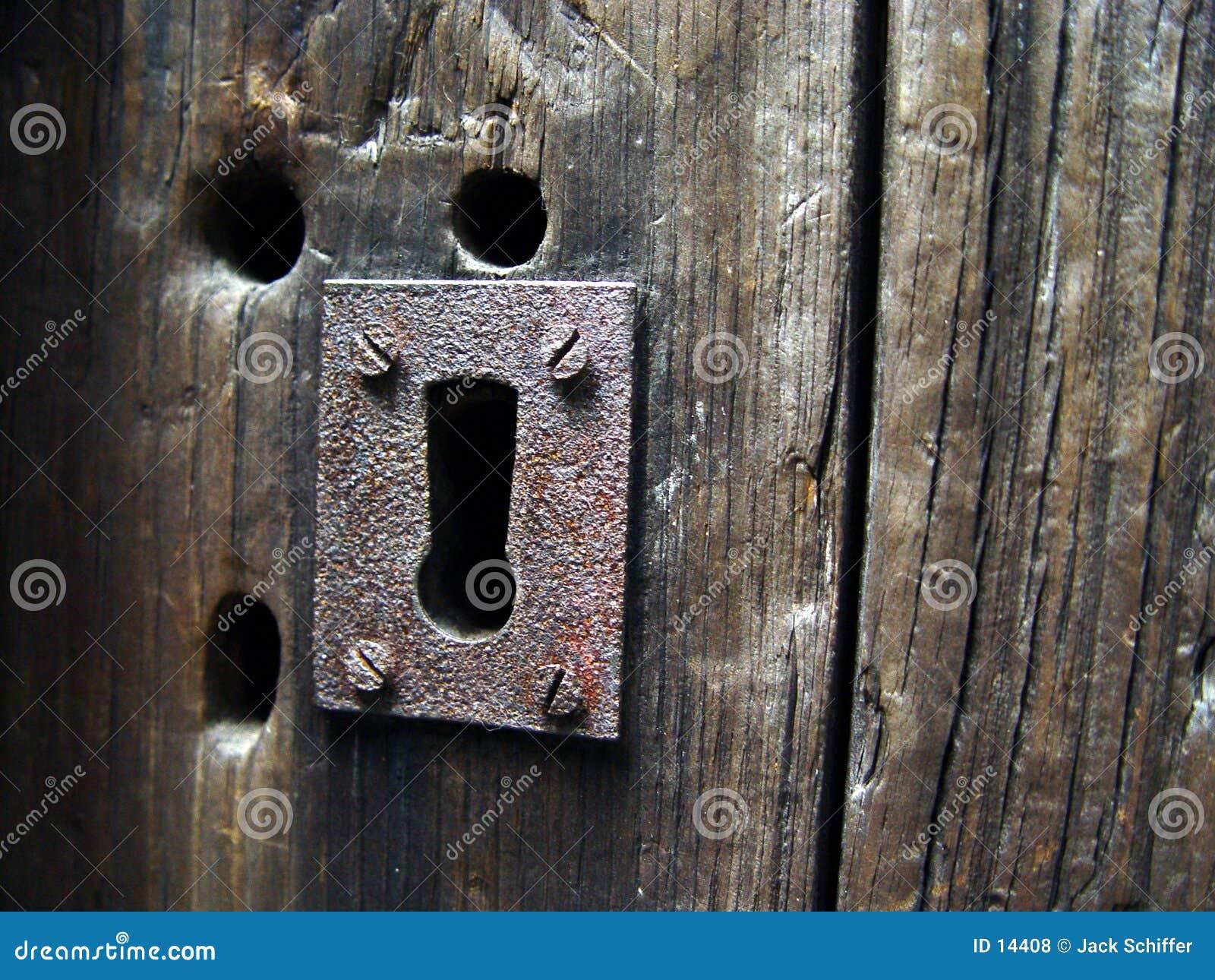 Ojo de la cerradura antiguo