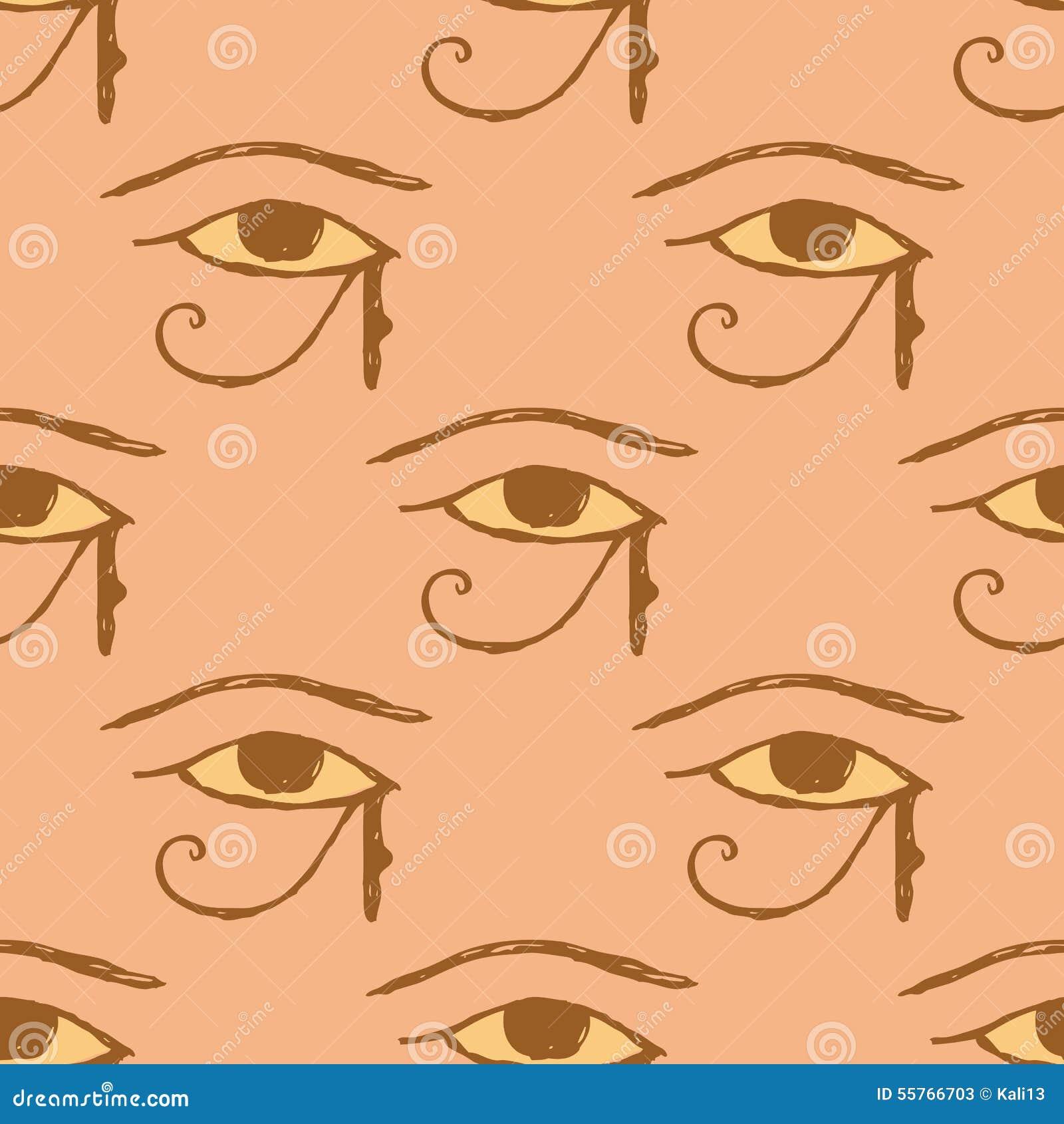 Ojo de Osiris del bosquejo en estilo del vintage
