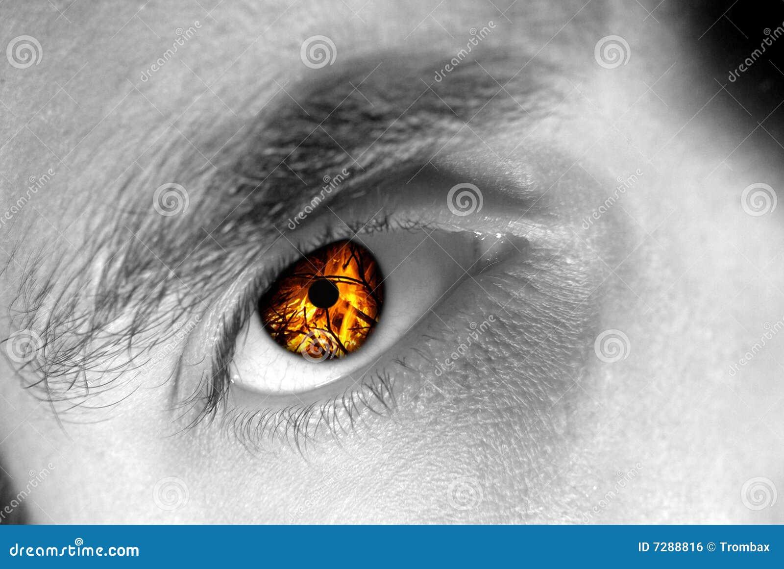 Ojo en el fuego