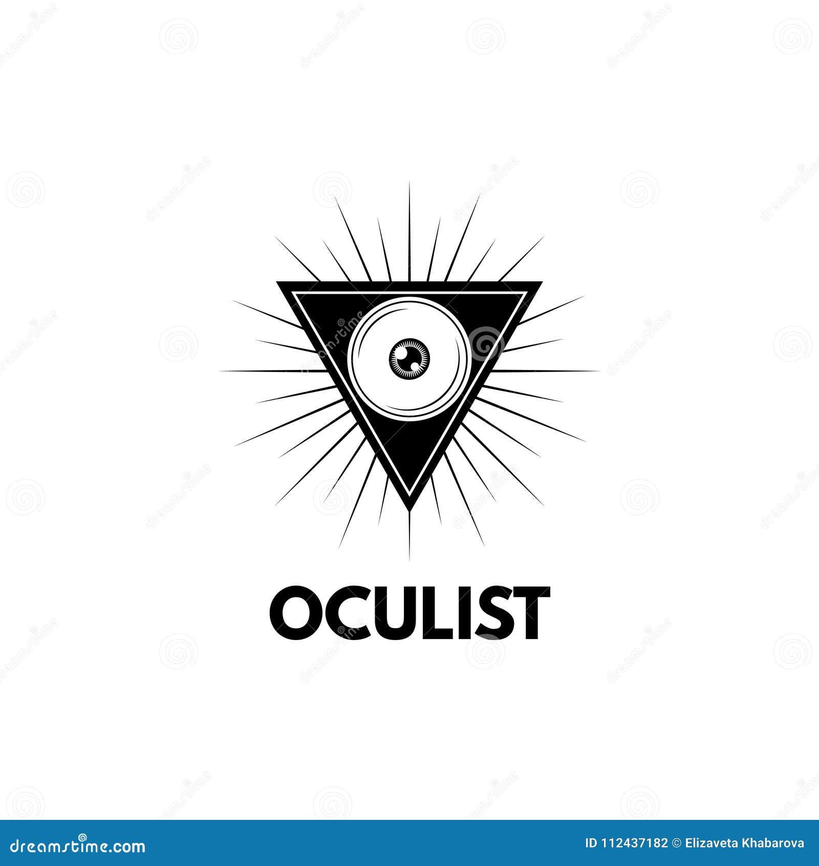 Ojo En Icono Del Triángulo Símbolo De La Oftalmología Ejemplo Del ...