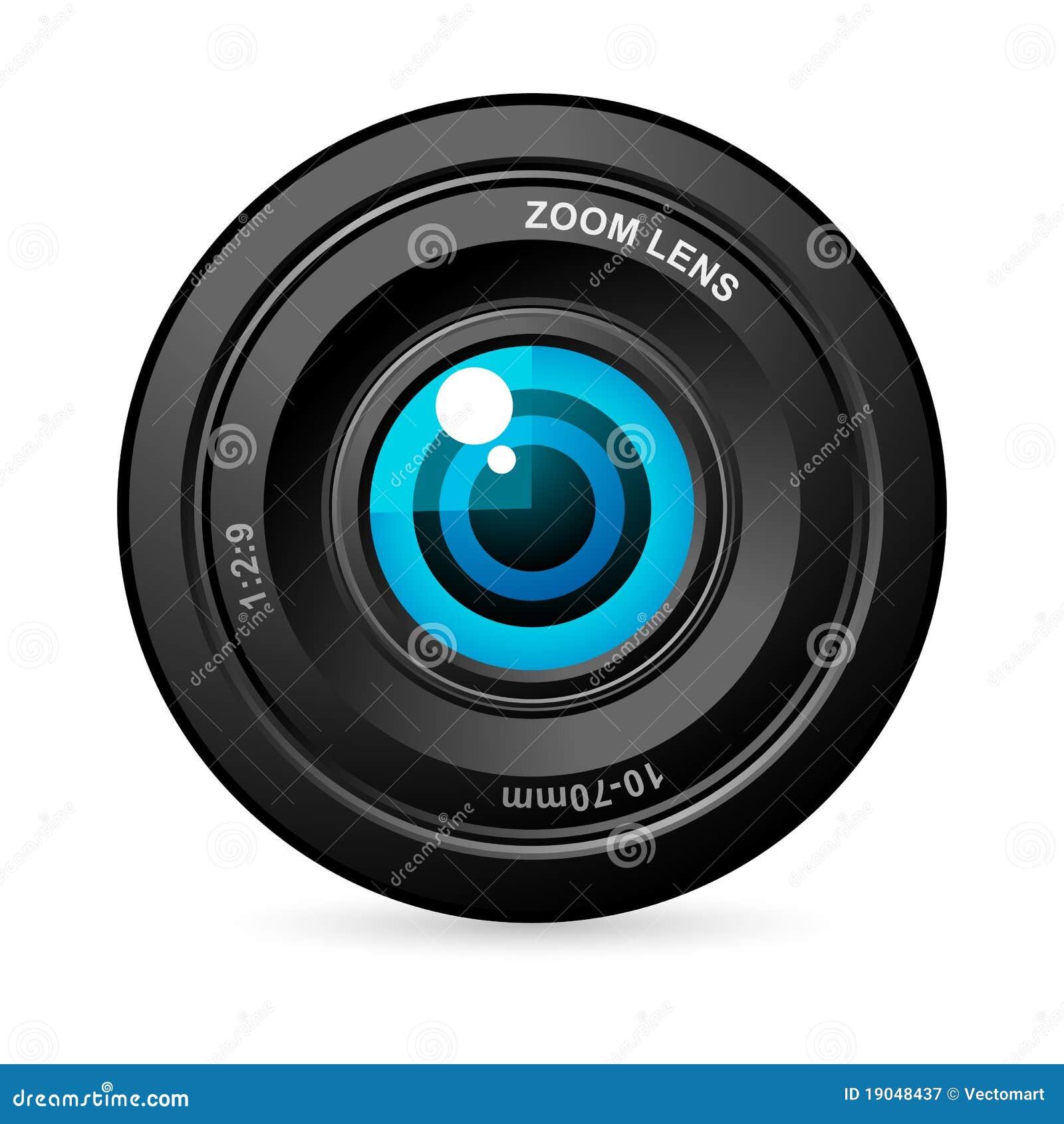 Ojo en lente de cámara
