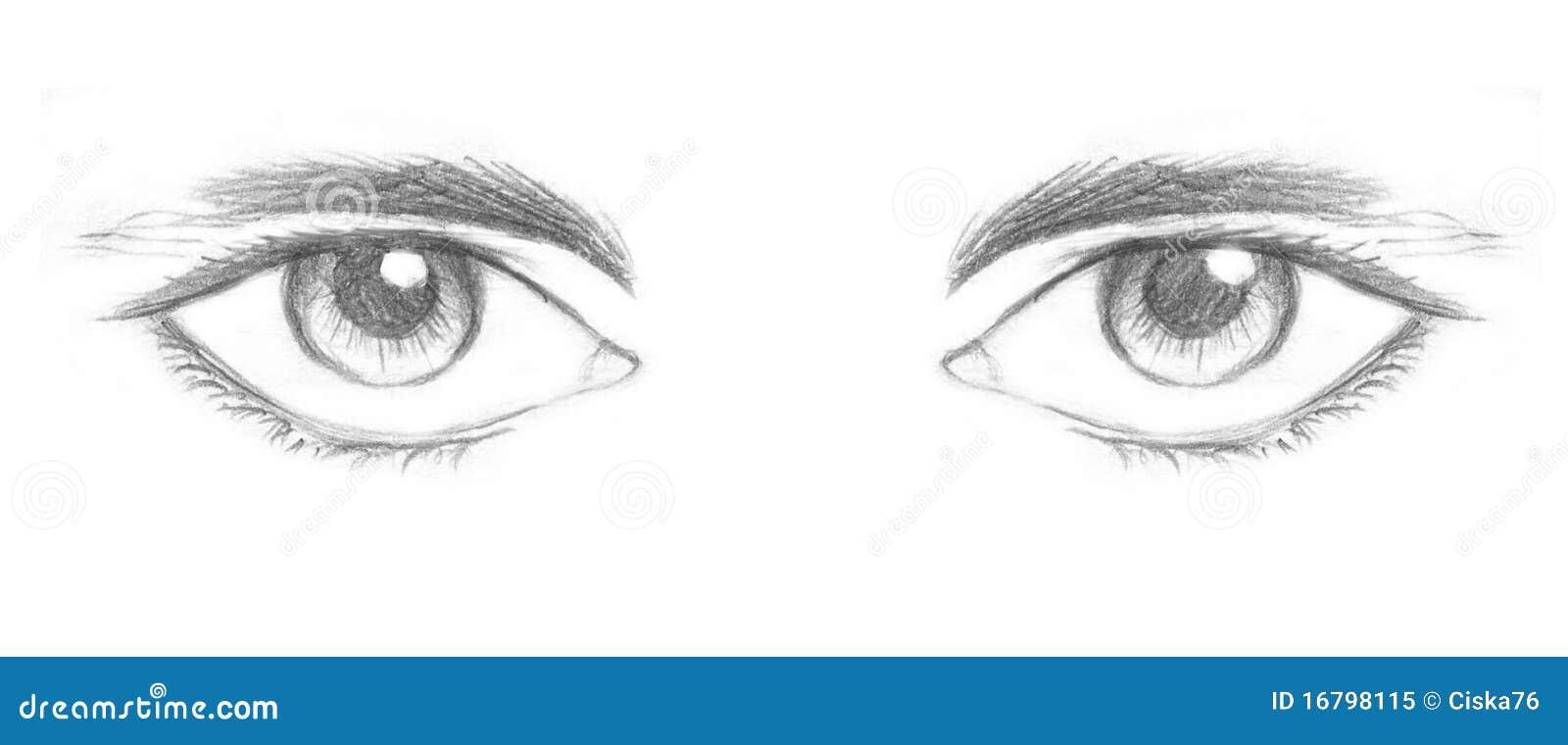 Ojos Stock De Ilustración. Ilustración De Intensidad