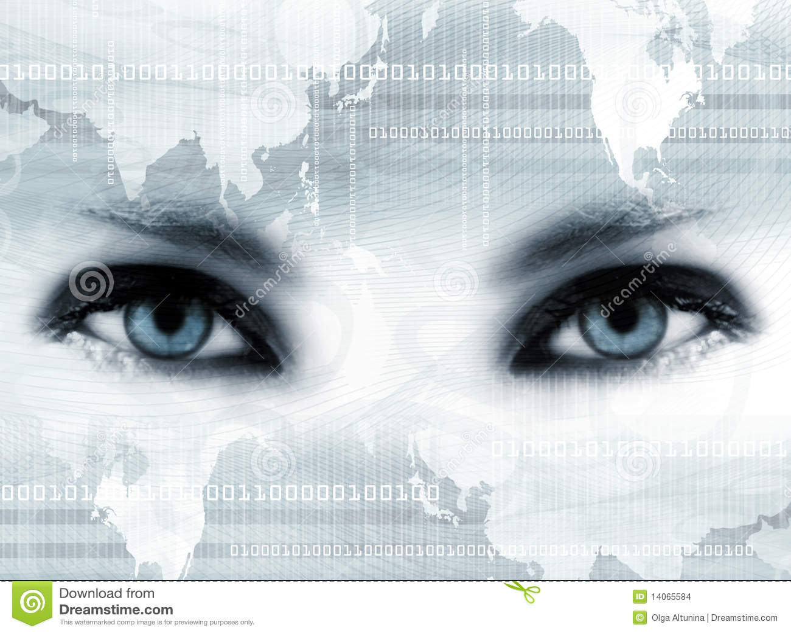 Ojos azules y correspondencia