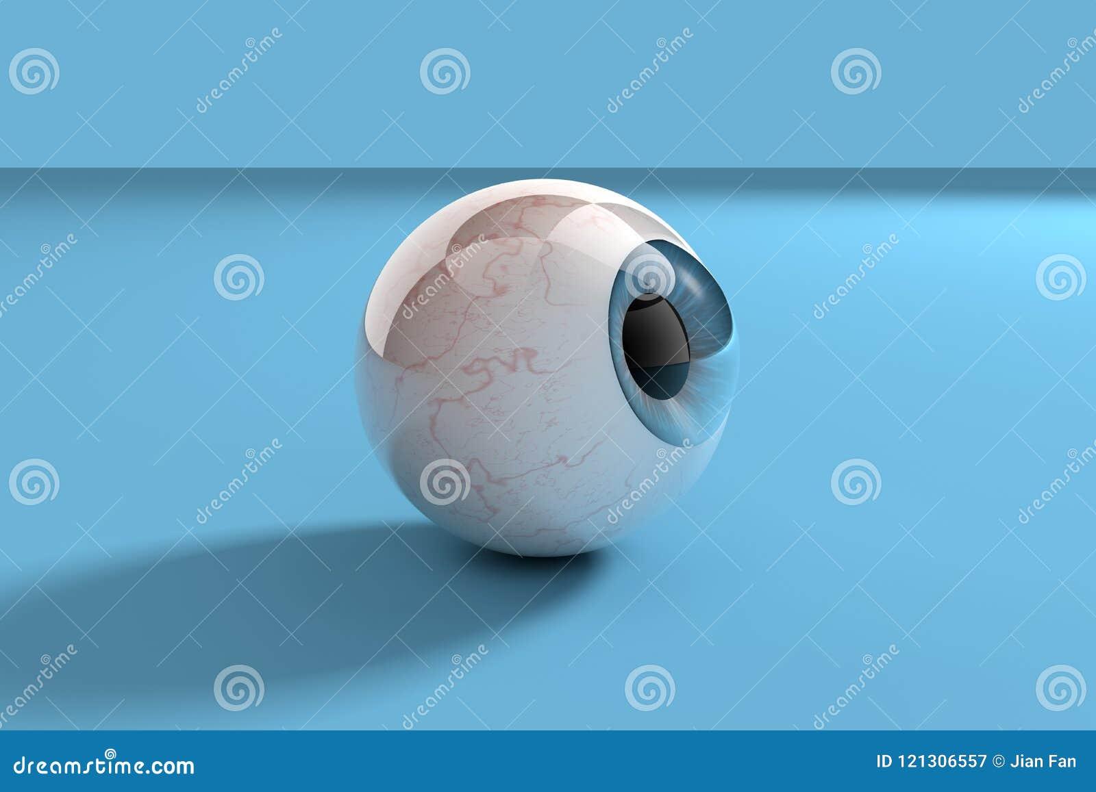 Ojos con el fondo azul