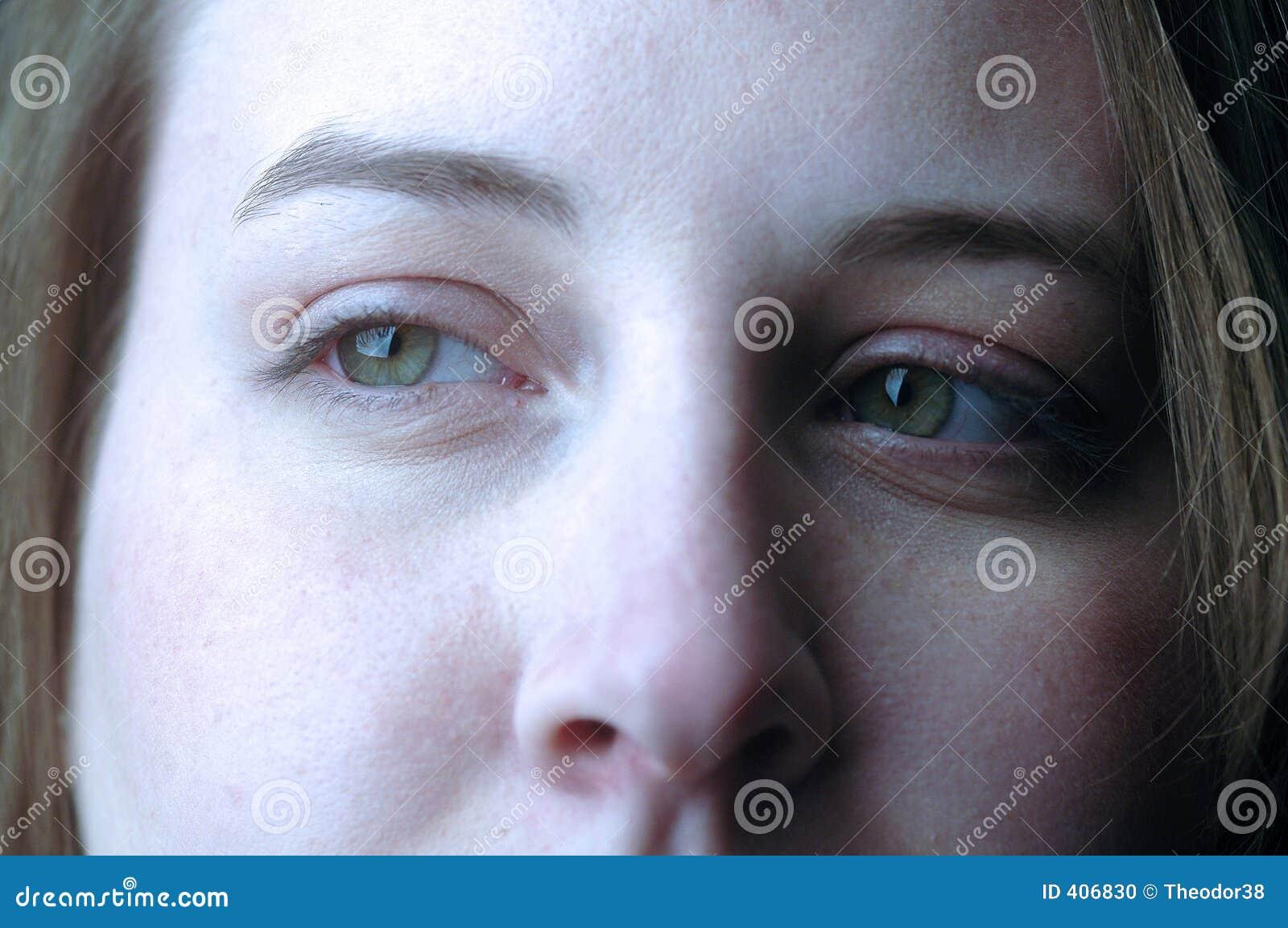 Ojos de la empresaria