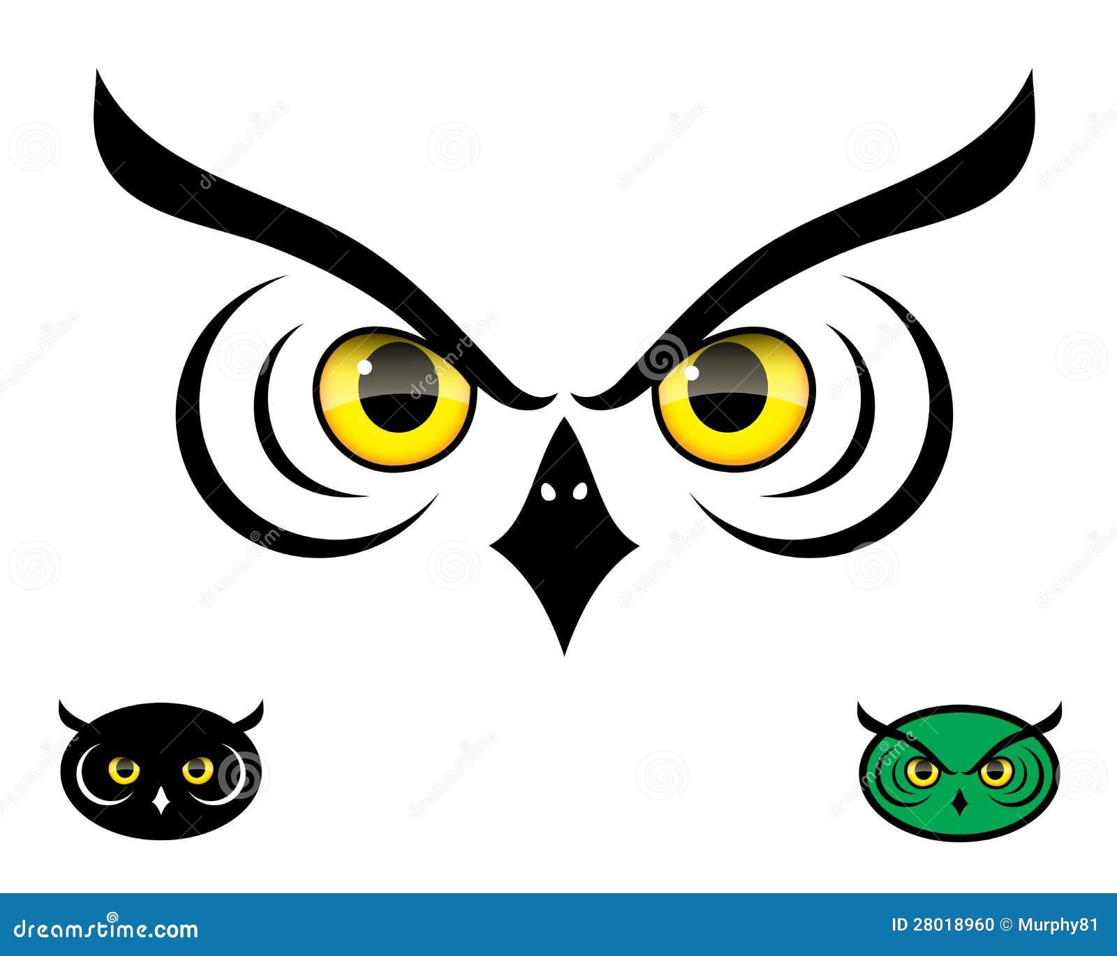 Ojos Del Buho Ilustracion Del Vector Ilustracion De Animal 28018960