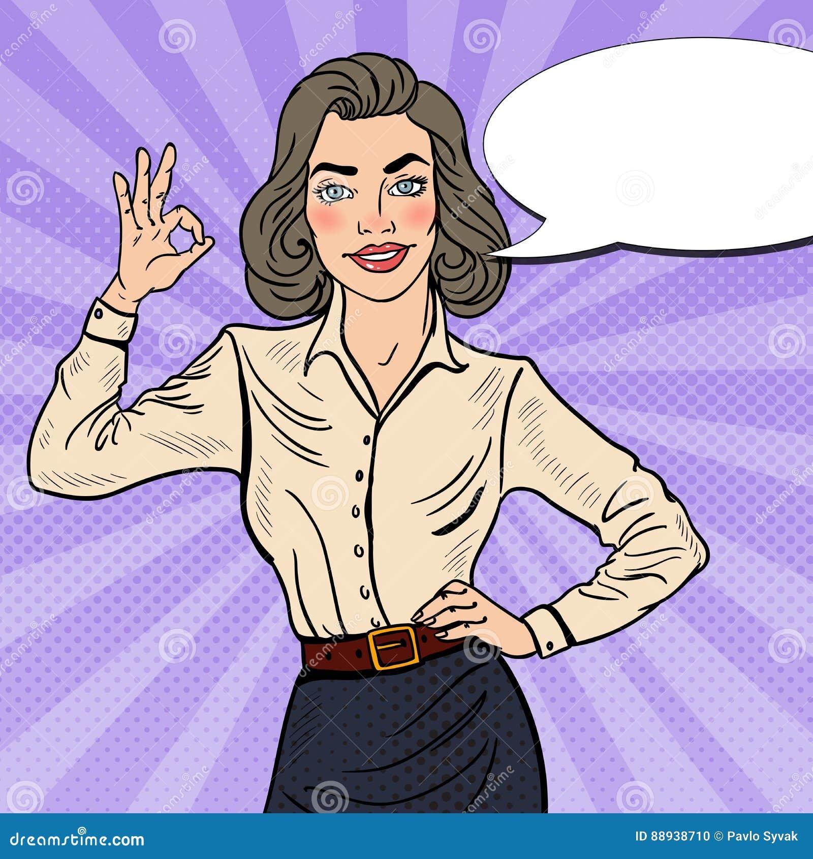 OK d Art Successful Businesswoman Gesturing de bruit