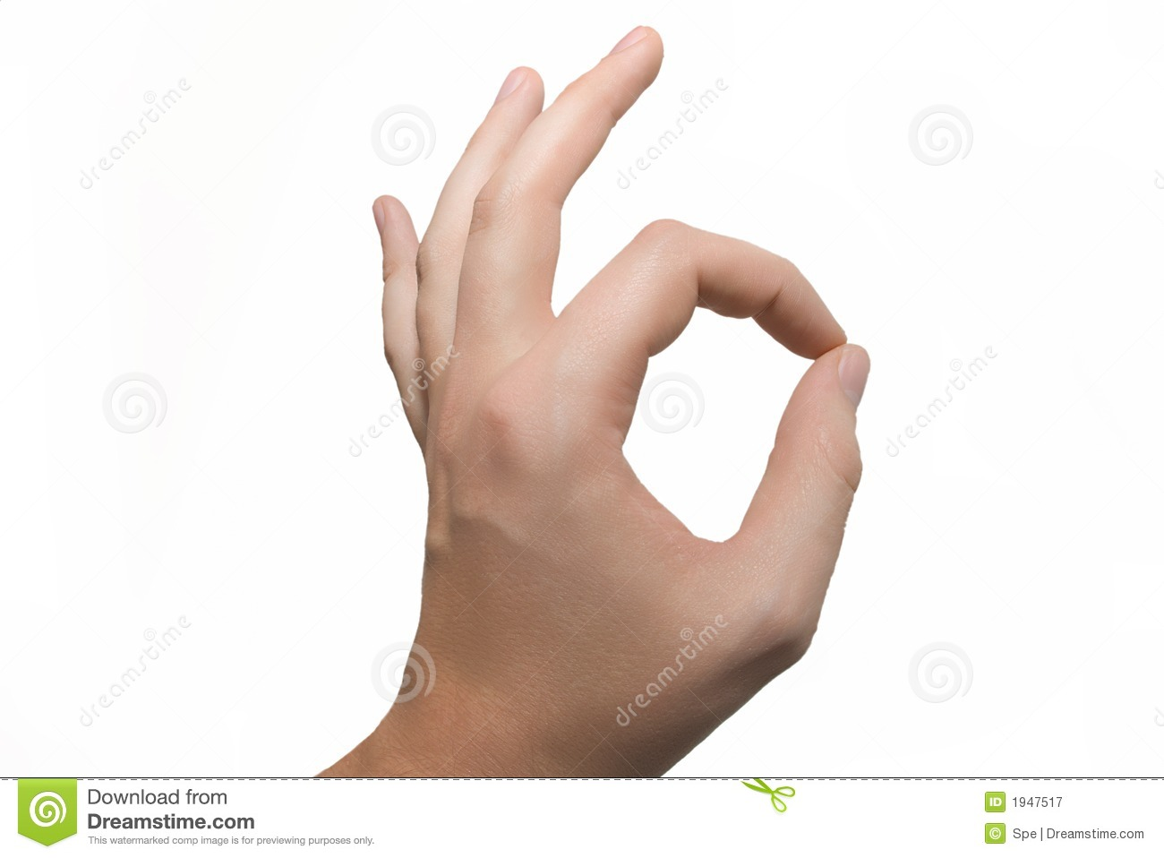 Ok Hand Sign Stock Image Image Of Contact Done Expressing 1947517
