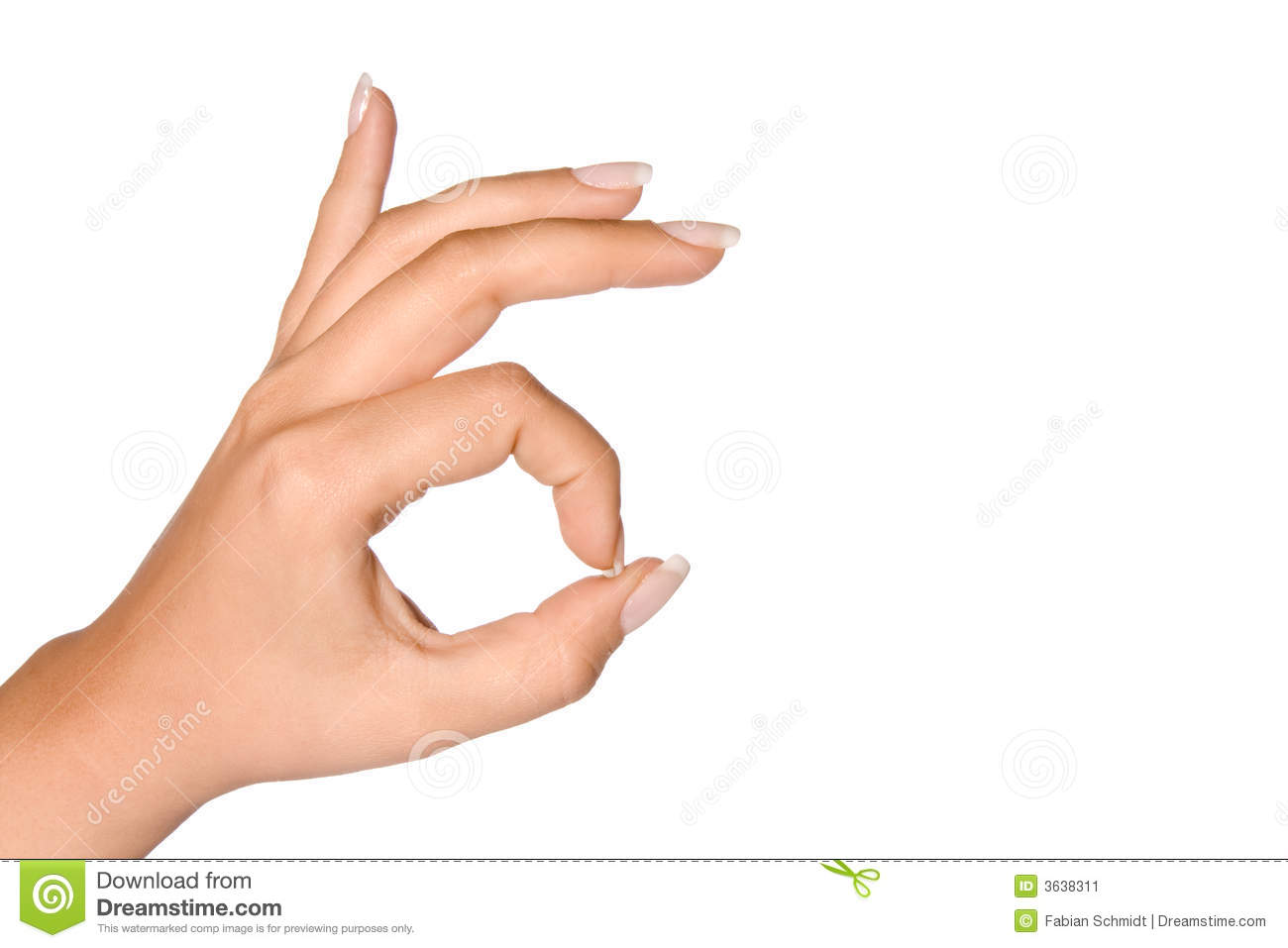 Ok Hand Sign Stock Image Image Of Thumb Woman Best 3638311