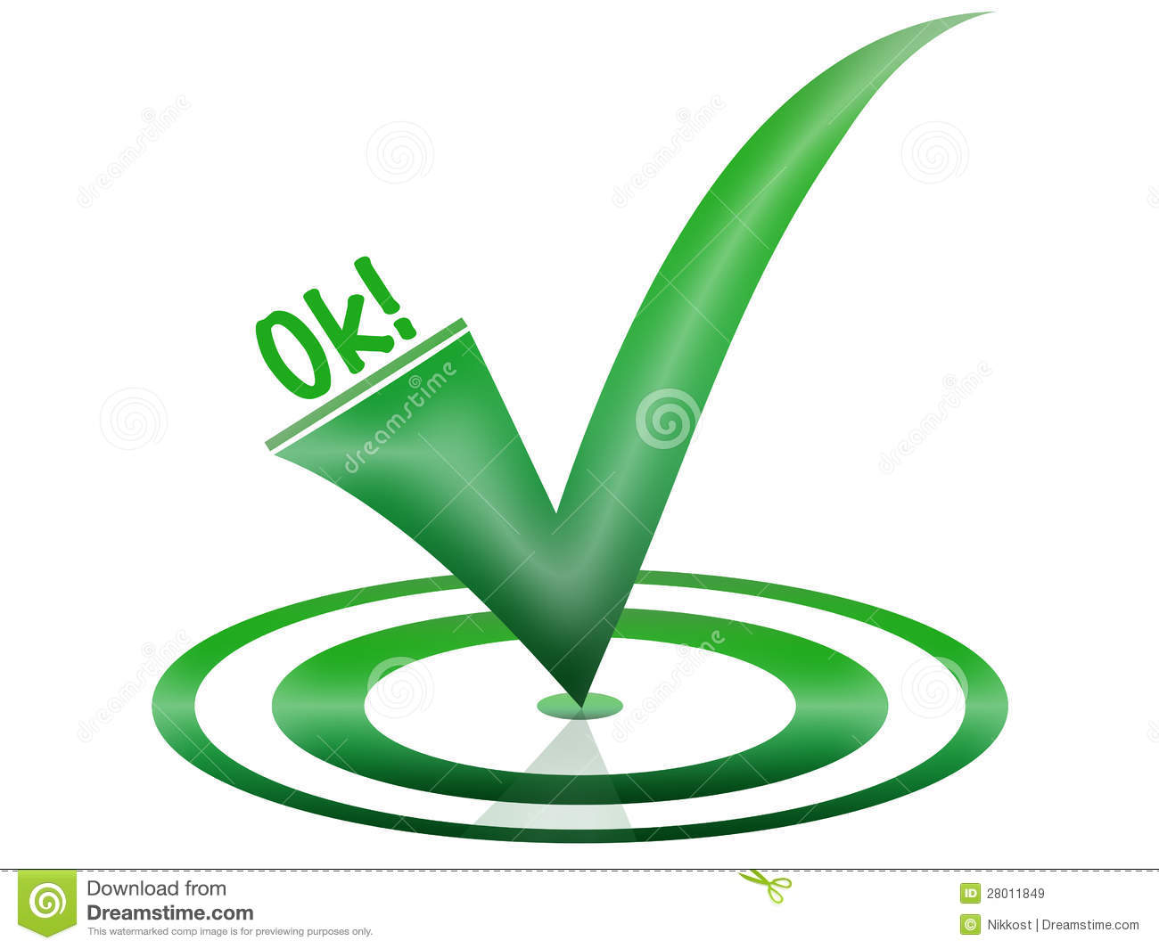 Ok Symbol in green for a website