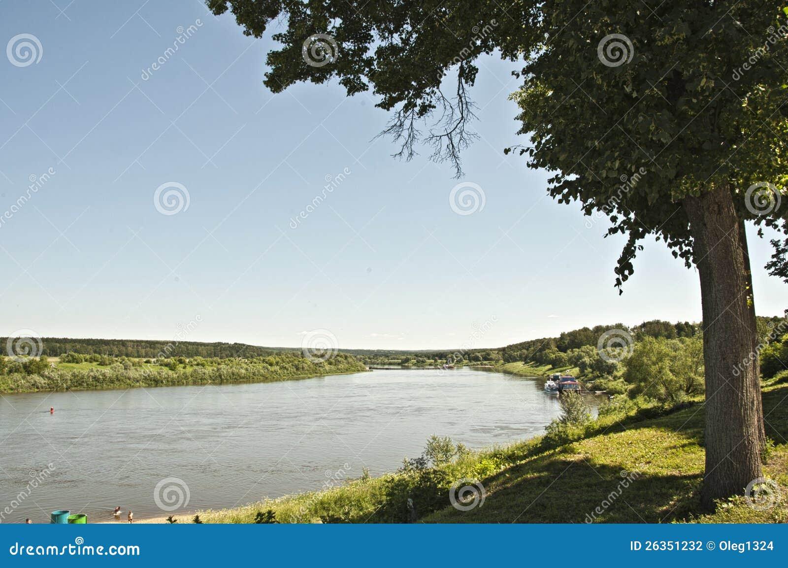 Oka Fluss in Tarusa