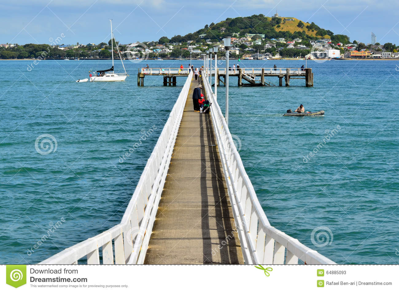 Okahu Pier In Okahu Bay In Auckland New Zealand Editorial Stock