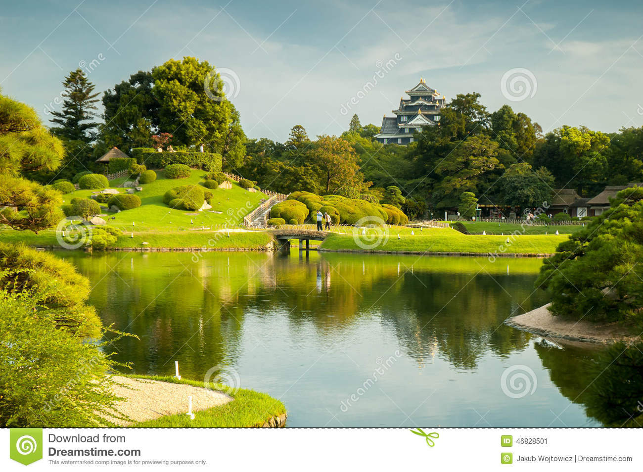 Okayama garden stock photo image 46828501 for Garden pond unlimited