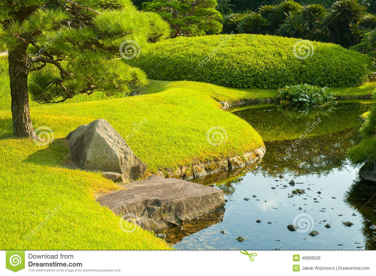 Okayama garden stock photo image 46828526 for Garden pond unlimited