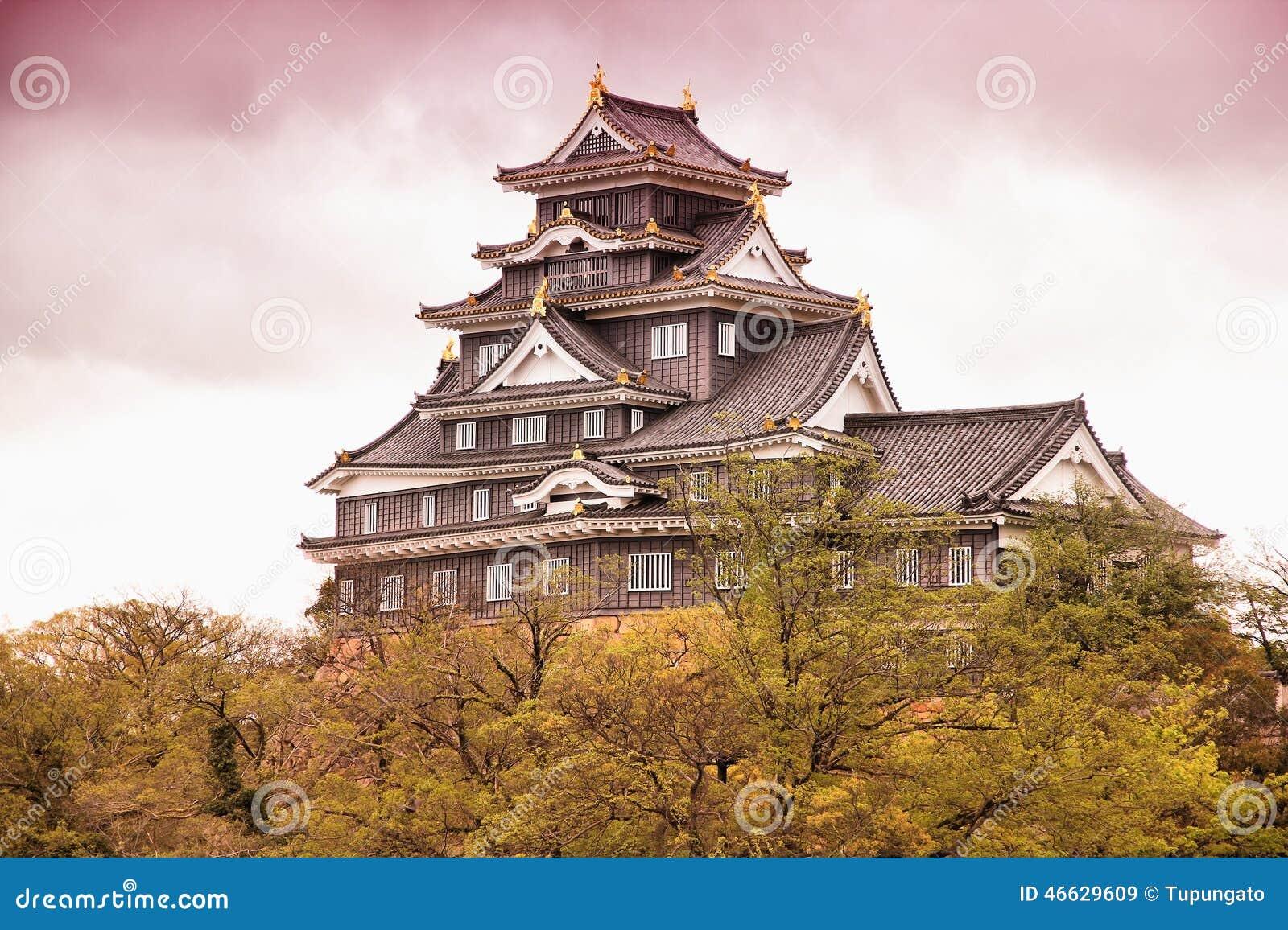 Okayama Japan  city photo : Okayama, Japan stad in het gebied van Chugoku eiland Honshu ...