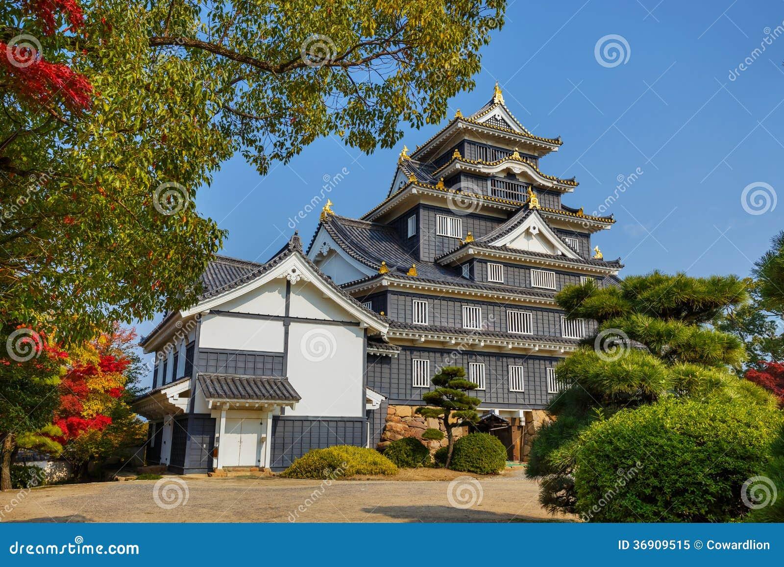 Okayama kasztel lub wrona kasztel w Okayama