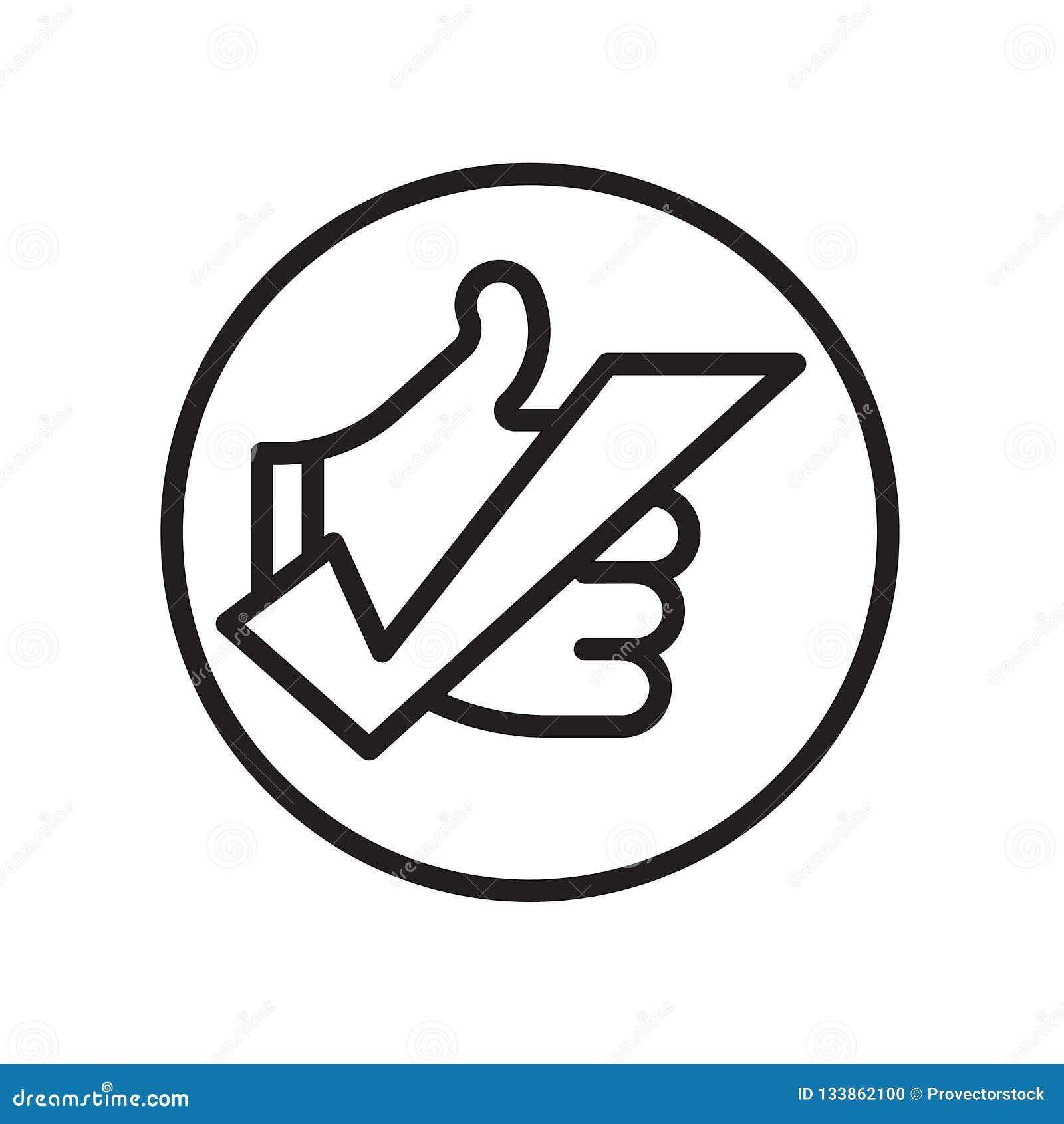 okey icon isolated on white background