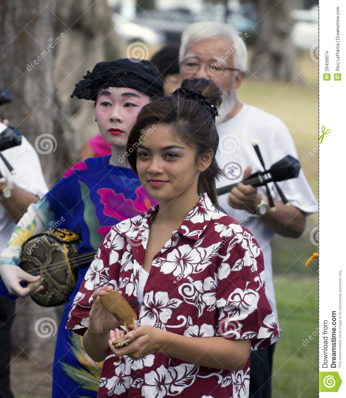 okinawan music makers editorial stock image image of 30th 26456874