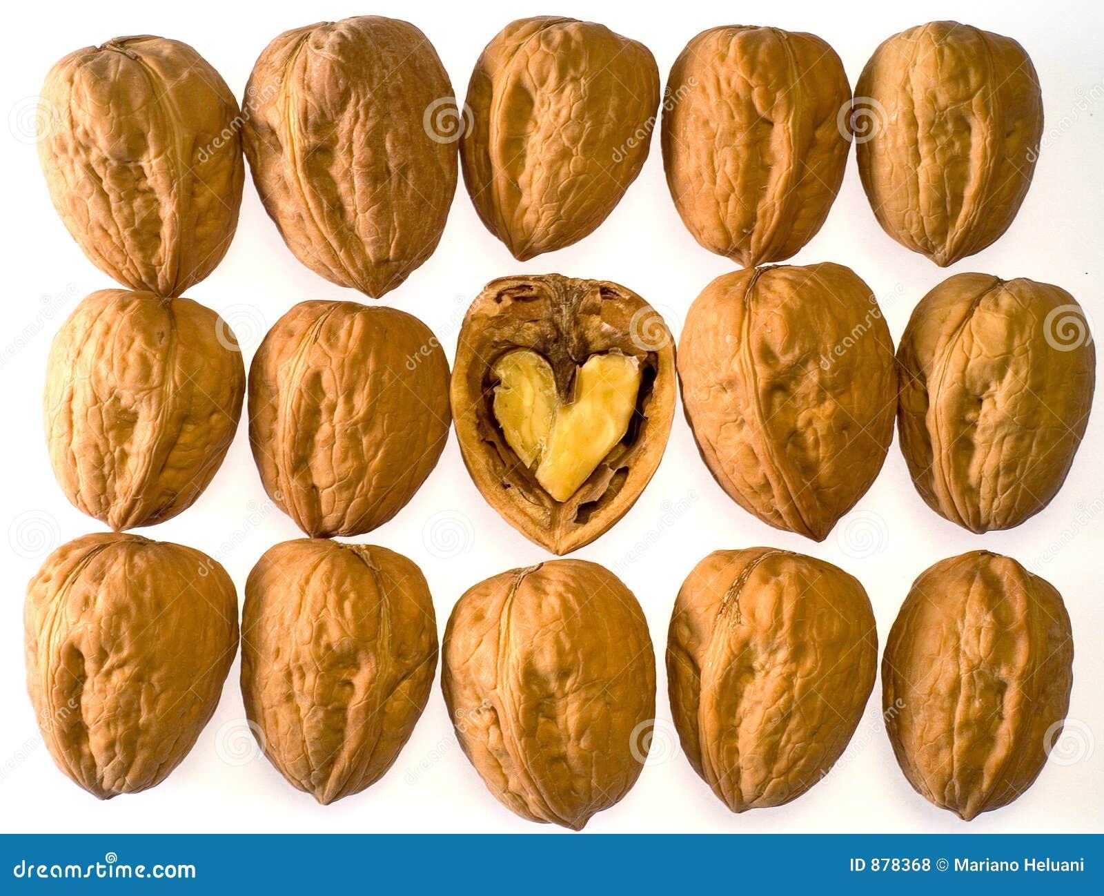 Okkernoten met hart