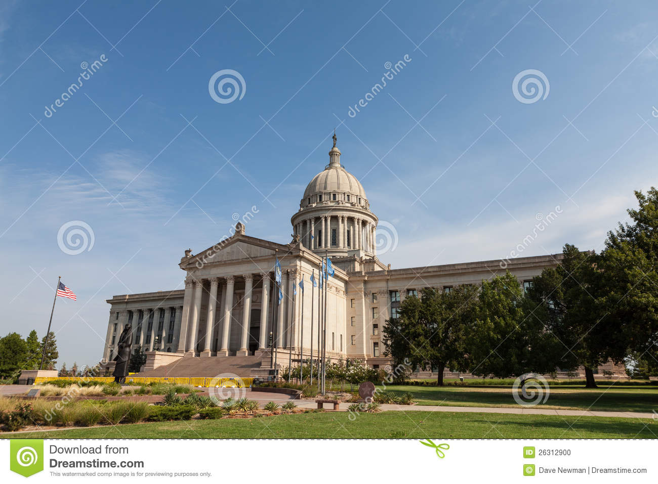Oklahoma state house and capitol building stock photo Building a house in oklahoma