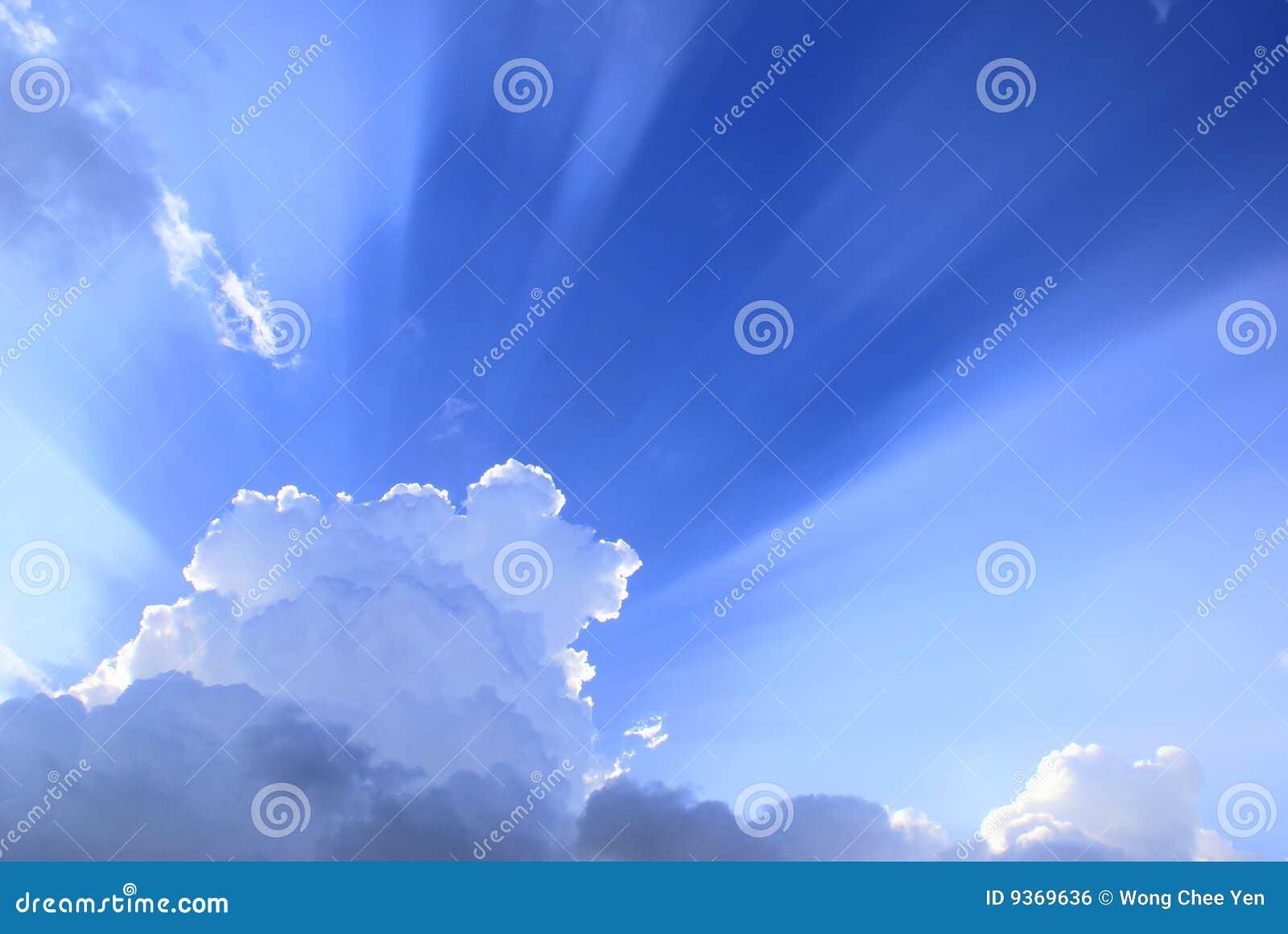 Oklarhetslampa över sunburst