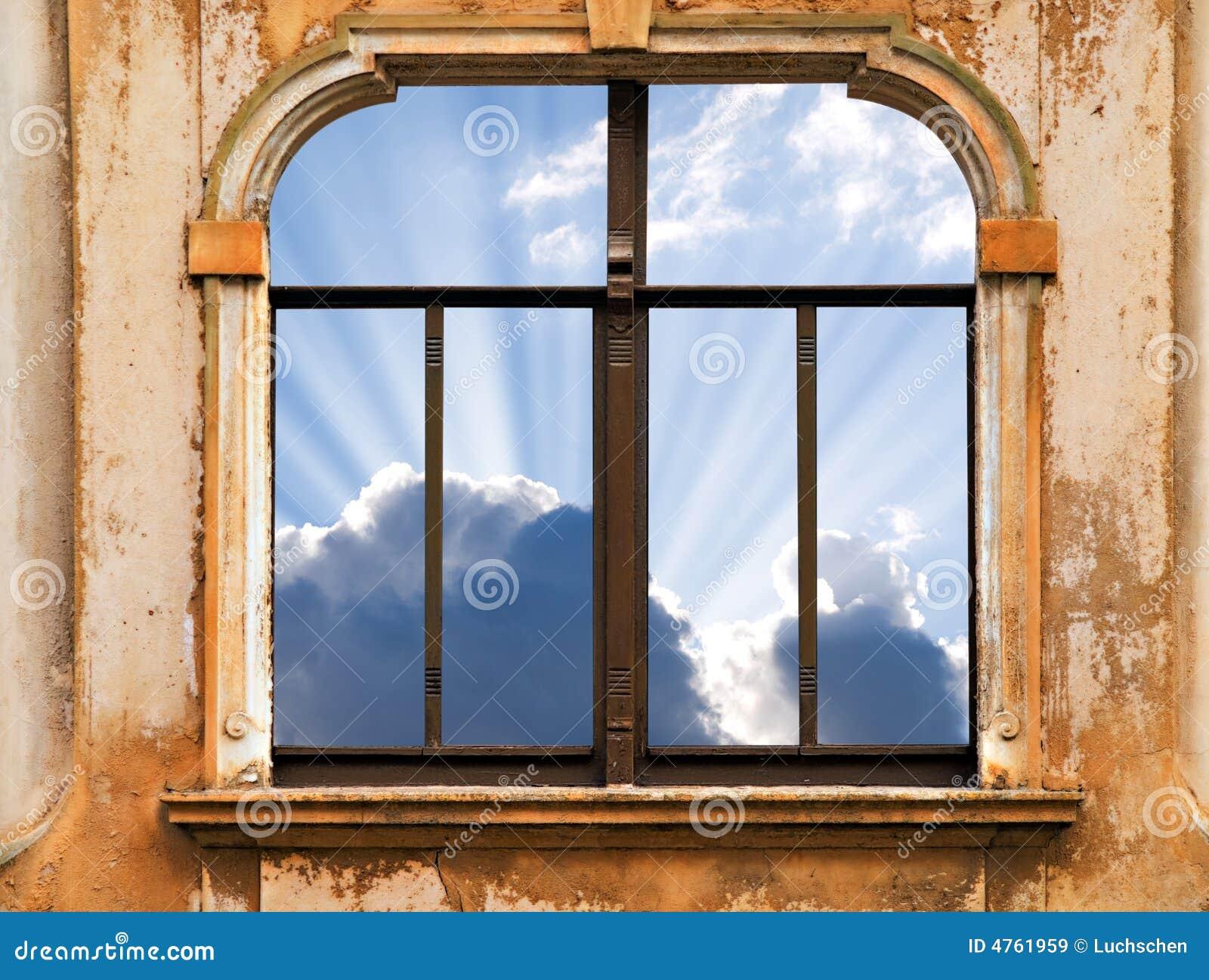Okno niebo
