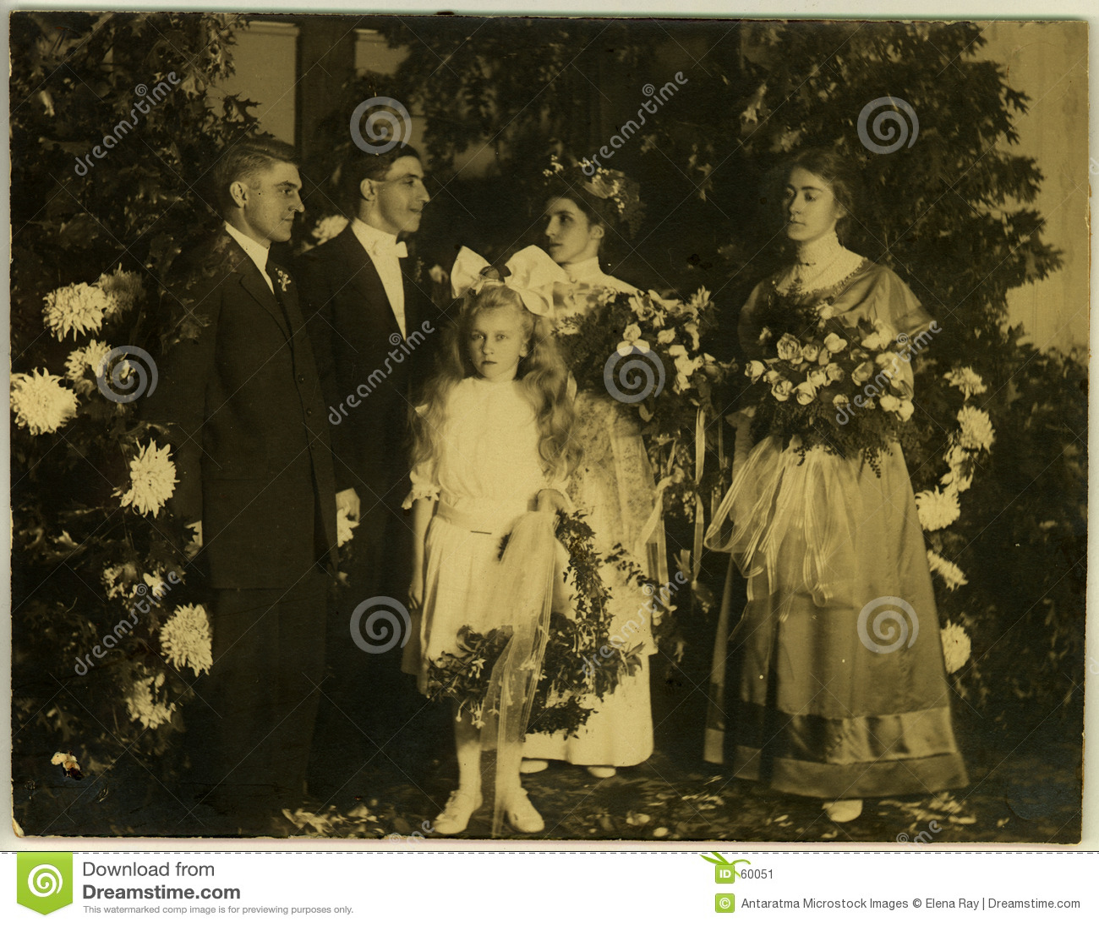 Około 1915 vintage ślub