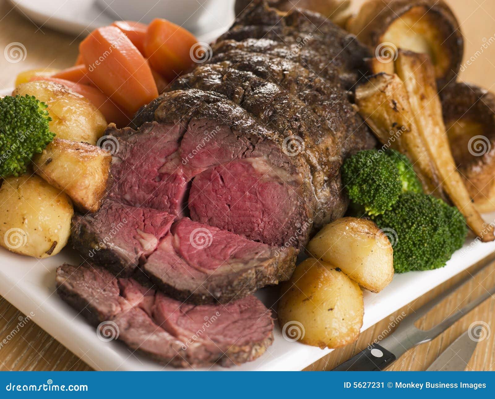 Oko brytyjskiej wołowiny żebra pieczeń