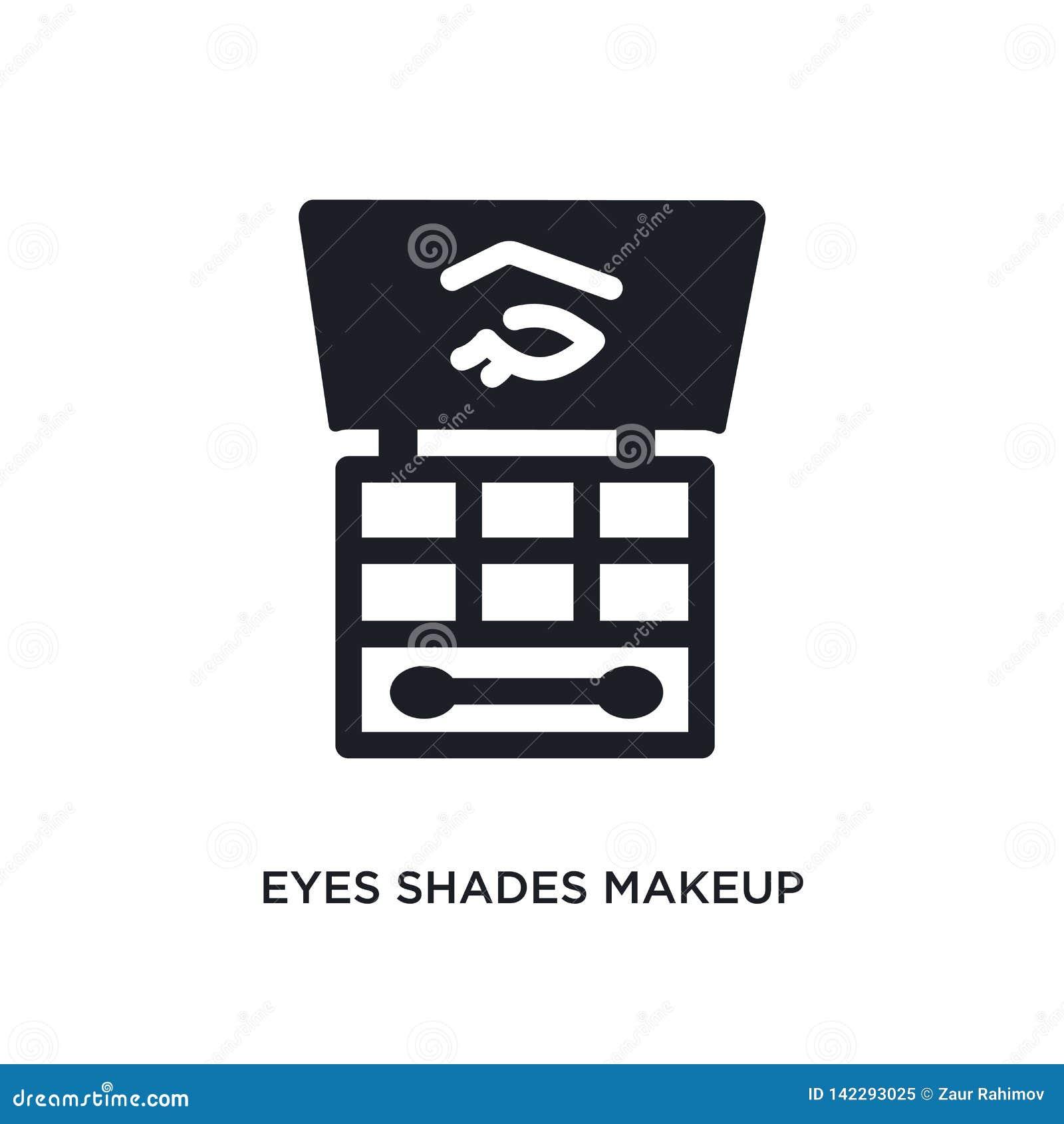 Oko cieni makeup odosobniona ikona prosta element ilustracja od kobiety pojęcia ubraniowych ikon oko cieni makeup editable logo