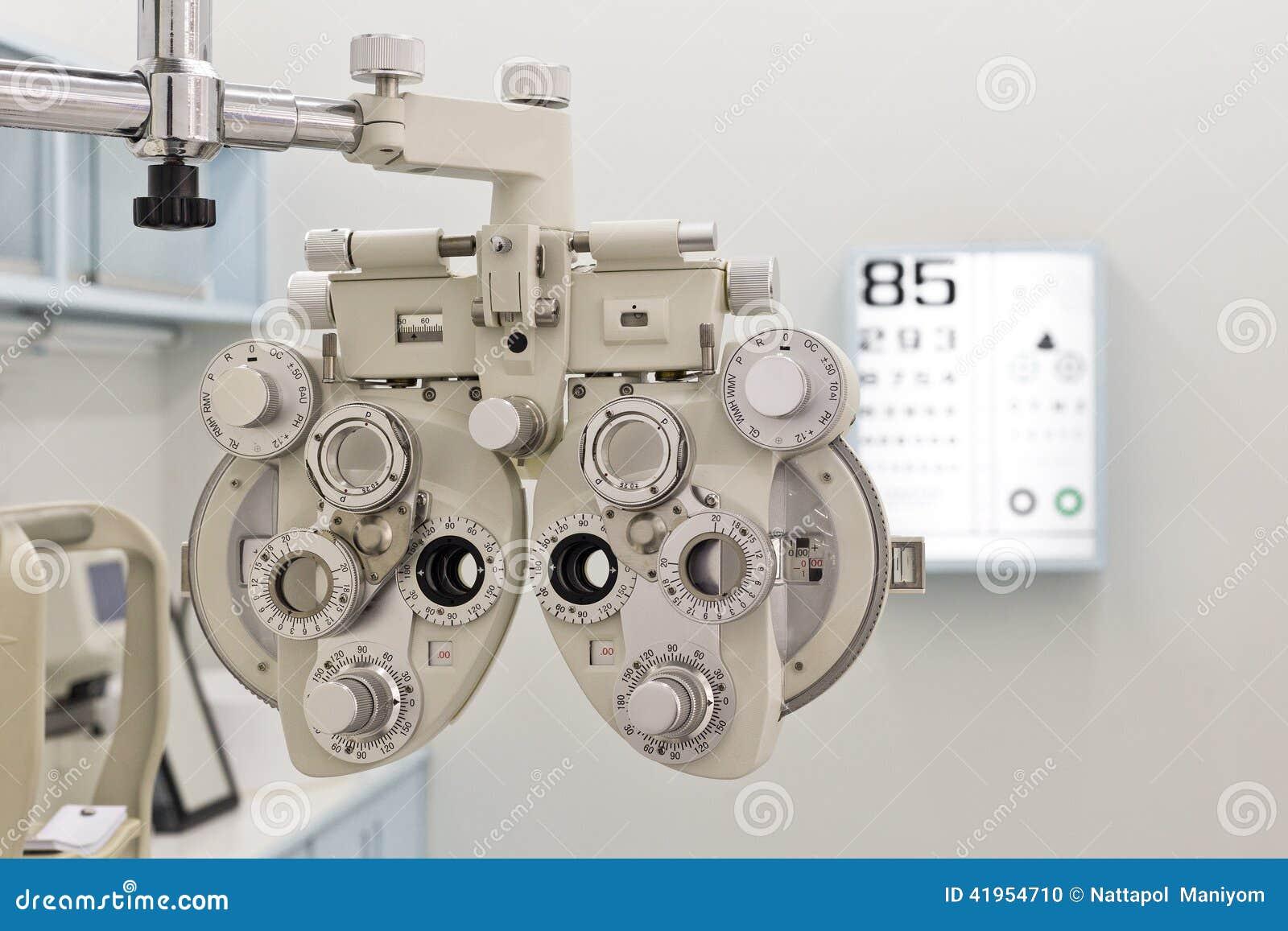 Oko egzaminu wyposażenia ostrość na phoroptor