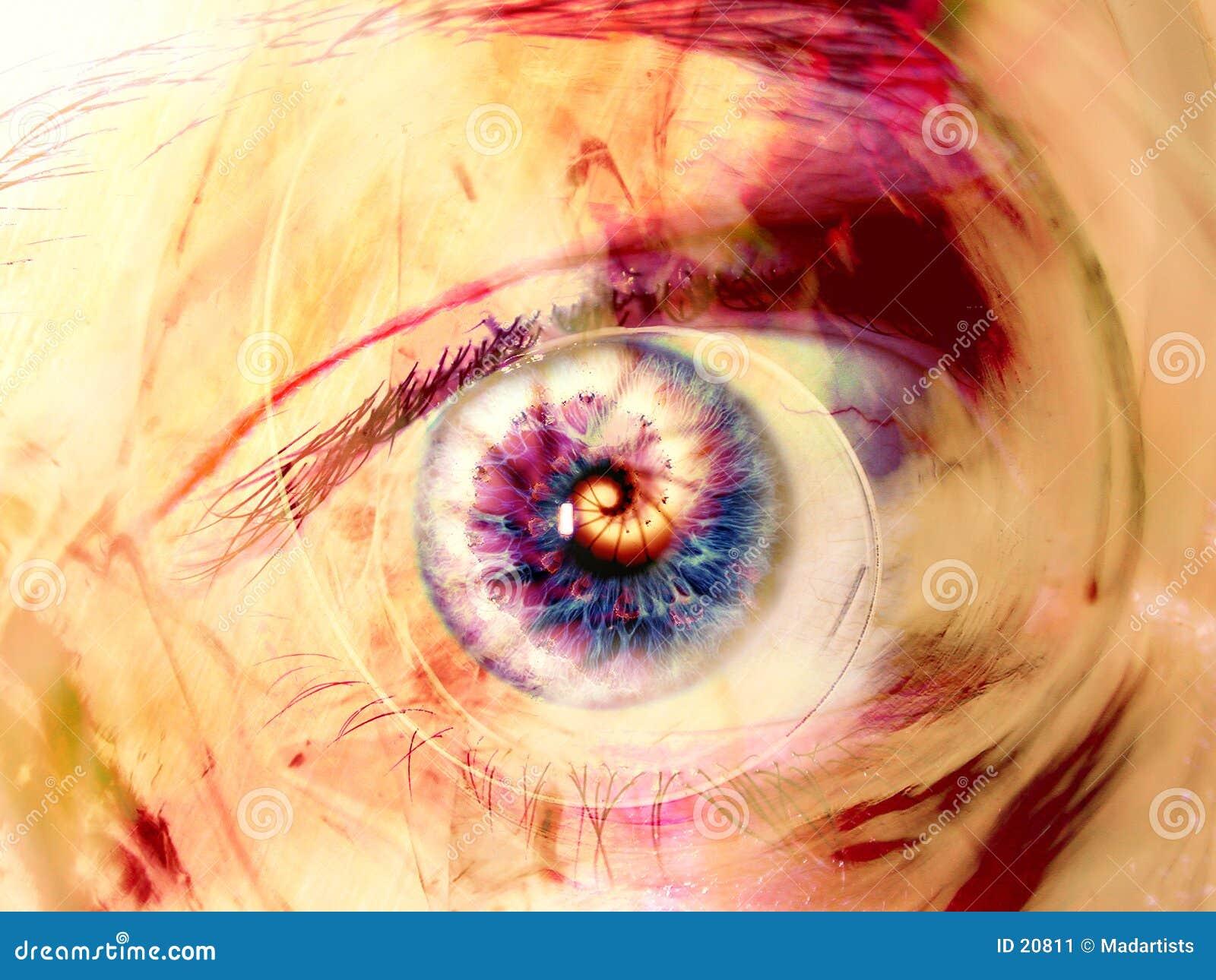 Oko fractal sztuki kwitnie cyfrowych