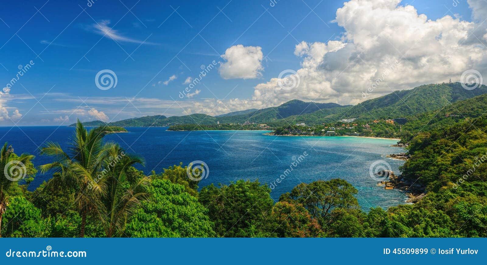 Oko panorama Phuket linia brzegowa