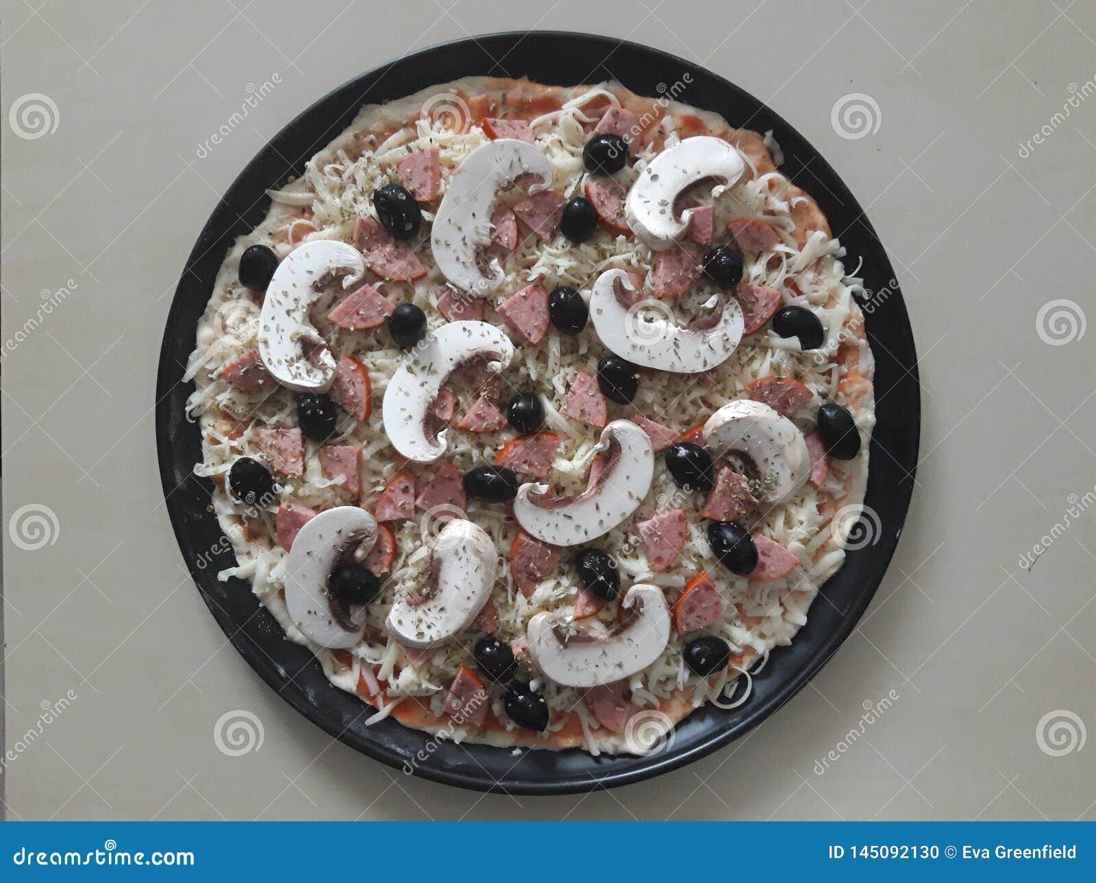 Okokt pizza